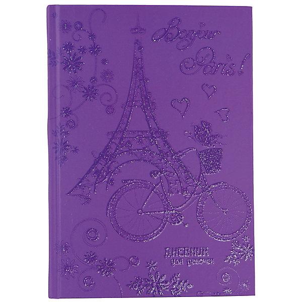 Дневник для девочек в твердом переплете формата А5, декорированном глиттером Эйфелева башня. 80 листовБумажная продукция<br>Характеристики товара:<br><br>• возраст: от 6 лет;<br>• цвет: фиолетовый;<br>• формат: А5;<br>• количество листов: 80;<br>• разметка: в линейку;<br>• бумага: офсетная;<br>• переплет: твердый;<br>• обложка: картон;<br>• размер: 21,5х17х0,5 см.;<br>• вес: 200 гр.;<br>• страна бренда: Россия;<br>• страна изготовитель: Россия.<br><br>Дневник для девочек в твердом переплете формата А5, декорированном глиттером «Эйфелева башня» поможет  записать яркие воспоминания или события из жизни, о которых не хотелось бы забывать, и ему можно доверить самые сокровенные мысли и желания.  <br><br>Имеет сшитый внутренний блок, состоящий из 80 листов тонированной бумаги плотностью 70г/кв.м. Прочная и приятная на ощупь обложка выполнена с использованием итальянских переплетных материалов, а оригинальный дизайн с блестками и рисунком придется по душе вашему ребенку и станет приятным подарком.<br><br>В дневнике на разноцветных страницах представлены гороскопы и описание характерных черт, присущих различным знакам зодиака, и различные тематические странички.<br><br>Дневник для девочек в твердом переплете формата А5, декорированном глиттером «Эйвелева башня», 80 листов, можно купить в нашем интернет-магазине.<br><br>Ширина мм: 206<br>Глубина мм: 146<br>Высота мм: 11<br>Вес г: 200<br>Возраст от месяцев: 36<br>Возраст до месяцев: 216<br>Пол: Женский<br>Возраст: Детский<br>SKU: 6992561
