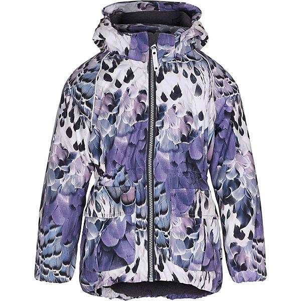 Куртка MOLO для девочкиВерхняя одежда<br>Зимняя куртка Molo<br>• состав: 100% нейлон, 100% полиэстер<br>• температурный режим: 0° до -25° градусов<br>• утеплитель:  ThinsulateTM  прекрасно сохраняющий тепло,  позволяет телу дышать и остается при этом сухим и легким<br>• водонепроницаемость: 10 000 мм<br>• отвод влаги: 8 000 г/м2/24ч<br>• основные швы проклеены<br>• съёмный капюшон<br>• удобные молнии<br>• «дышащий» материал<br>• ветро- водо- и грязеотталкивающий материал<br>• ветрозащитная планка<br>• комфортная посадка<br>• прочные съёмные силиконовые штрипки<br>• страна производства: Китай<br>• страна бренда: Дания <br> Фантастический и причудливый датский бренд Molo это самый актуальный и стильный дизайн в детской одежде для маленьких модников.<br>Ширина мм: 356; Глубина мм: 10; Высота мм: 245; Вес г: 519; Цвет: белый; Возраст от месяцев: 60; Возраст до месяцев: 72; Пол: Женский; Возраст: Детский; Размер: 116,122,128,134,140,146,104,152,110; SKU: 6994944;
