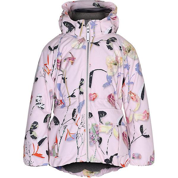 Куртка MOLO для девочкиВерхняя одежда<br>Зимняя куртка Molo<br>• состав: 100% нейлон, 100% полиэстер<br>• температурный режим: 0° до -25° градусов<br>• утеплитель:  ThinsulateTM  прекрасно сохраняющий тепло,  позволяет телу дышать и остается при этом сухим и легким<br>• водонепроницаемость: 10 000 мм<br>• отвод влаги: 8 000 г/м2/24ч<br>• основные швы проклеены<br>• съёмный капюшон<br>• удобные молнии<br>• «дышащий» материал<br>• ветро- водо- и грязеотталкивающий материал<br>• ветрозащитная планка<br>• комфортная посадка<br>• прочные съёмные силиконовые штрипки<br>• страна производства: Китай<br>• страна бренда: Дания <br> Фантастический и причудливый датский бренд Molo это самый актуальный и стильный дизайн в детской одежде для маленьких модников.<br>Ширина мм: 356; Глубина мм: 10; Высота мм: 245; Вес г: 519; Цвет: розовый; Возраст от месяцев: 108; Возраст до месяцев: 120; Пол: Женский; Возраст: Детский; Размер: 140,134,128,122,116,110,104,152,146; SKU: 6994954;