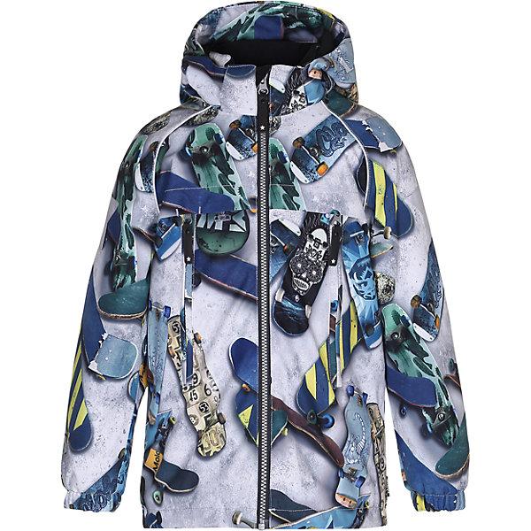 Куртка MOLO для мальчикаВерхняя одежда<br>Зимняя куртка для детей<br>• состав: 100% нейлон, 100% полиэстер<br>• температурный режим: 0° до -25° градусов<br>• утеплитель:  ThinsulateTM  прекрасно сохраняющий тепло,  позволяет телу дышать и остается при этом сухим и легким<br>• водонепроницаемость: 10 000 мм<br>• отвод влаги: 8 000 г/м2/24ч<br>• основные швы проклеены<br>• съёмный капюшон<br>• удобные молнии<br>• «дышащий» материал<br>• ветро- водо- и грязеотталкивающий материал<br>• ветрозащитная планка<br>• комфортная посадка<br>• прочные съёмные силиконовые штрипки<br>• страна производства: Китай<br>• страна бренда: Дания <br> Фантастический и причудливый датский бренд Molo это самый актуальный и стильный дизайн в детской одежде для маленьких модников.<br>Ширина мм: 356; Глубина мм: 10; Высота мм: 245; Вес г: 519; Цвет: белый; Возраст от месяцев: 36; Возраст до месяцев: 48; Пол: Мужской; Возраст: Детский; Размер: 104,152,146,140,134,128,122,116,110; SKU: 6994973;