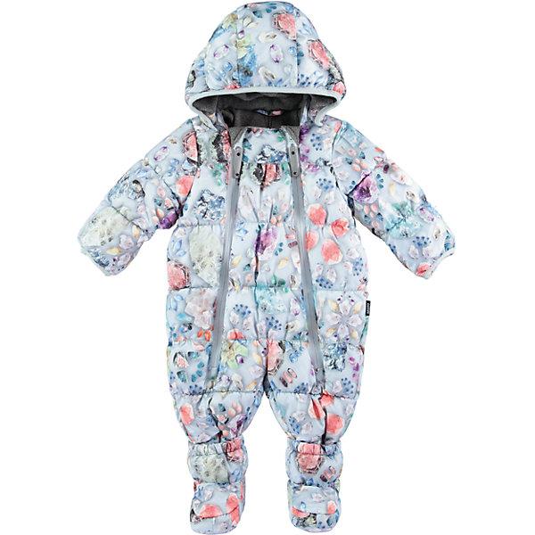 Комбинезон MOLO для девочкиВерхняя одежда<br>Характеристики товара:<br><br>• цвет: голубой<br>• состав ткани: 100% нейлон<br>• подкладка: 100% полиэстер, флис<br>• утеплитель: гипоаллергенный искусственный пух<br>• сезон: зима<br>• температурный режим: от -20 до 0<br>• особенности модели: с капюшоном<br>• водонепроницаемость: 10000 мм <br>• паропроницаемость: 8000 г/м2<br>• застежка: молнии<br>• капюшон: без меха, съемный<br>• пинетки: отстегиваются<br>• страна бренда: Дания<br>• страна изготовитель: Китай<br><br>Этот теплый комбинезон для ребенка дополнен съемным капюшоном и пинетками. Симпатичный комбинезон для детей Molo не промокает и не продувается ветром. Детский комбинезон сделан из легких инновационных материалов. <br><br>Комбинезон для девочки Molo (Моло) можно купить в нашем интернет-магазине.<br><br>Ширина мм: 215<br>Глубина мм: 88<br>Высота мм: 191<br>Вес г: 336<br>Цвет: белый<br>Возраст от месяцев: 3<br>Возраст до месяцев: 6<br>Пол: Женский<br>Возраст: Детский<br>Размер: 68,80,74<br>SKU: 6994983