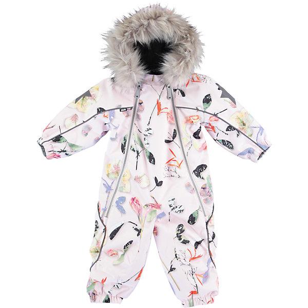 Комбинезон MOLO для девочкиВерхняя одежда<br>Характеристики товара:<br><br>• цвет: белый <br>• состав ткани: 100% полиэстер<br>• подкладка: 100% полиэстер, флис<br>• утеплитель: Thinsulate<br>• сезон: зима<br>• температурный режим: от -20 до 0<br>• особенности модели: с капюшоном<br>• водонепроницаемость: 10000 мм <br>• паропроницаемость: 8000 г/м2<br>• застежка: молнии<br>• капюшон: с мехам, съемный<br>• штрипки: съемные<br>• страна бренда: Дания<br>• страна изготовитель: Китай<br><br>Удобный детский комбинезон имеет мягкую подкладку, способствующую созданию оптимального для малыша микроклимата. Теплый комбинезон для ребенка дополнен съемным капюшоном и штрипками. Симпатичный комбинезон для детей Molo не промокает и не продувается ветром. <br><br>Комбинезон для девочки Molo (Моло) можно купить в нашем интернет-магазине.<br><br>Ширина мм: 215<br>Глубина мм: 88<br>Высота мм: 191<br>Вес г: 336<br>Цвет: белый<br>Возраст от месяцев: 12<br>Возраст до месяцев: 15<br>Пол: Женский<br>Возраст: Детский<br>Размер: 86,80,98,92<br>SKU: 6995021