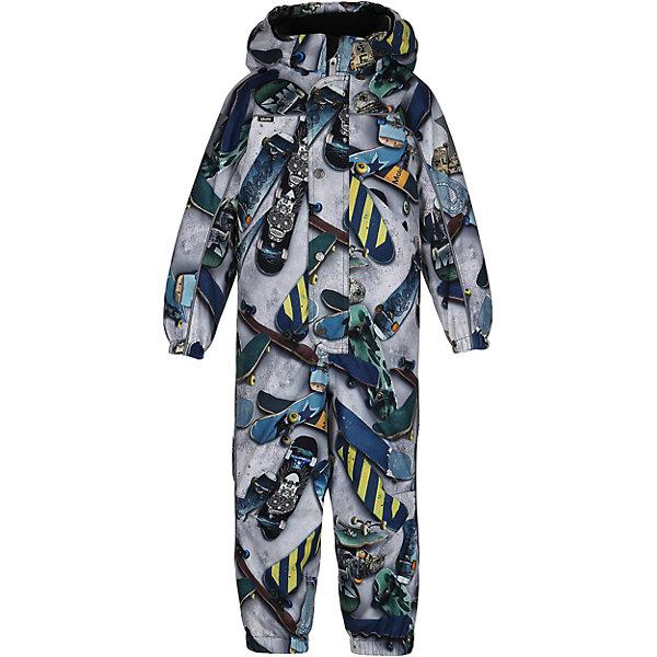 Комбинезон MOLO для мальчикаВерхняя одежда<br>Зимний комбинезон Molo <br>• состав: 100% нейлон, 100% полиэстер<br>• температурный режим: 0° до -25° градусов<br>• утеплитель:  ThinsulateTM  прекрасно сохраняющий тепло,  позволяет телу дышать и остается при этом сухим и легким<br>• водонепроницаемость: 10 000 мм<br>• отвод влаги: 8 000 г/м2/24ч<br>• основные швы проклеены<br>• съёмный капюшон<br>• удобные молнии<br>• «дышащий» материал<br>• ветро- водо- и грязеотталкивающий материал<br>• ветрозащитная планка<br>• комфортная посадка<br>• прочные съёмные силиконовые штрипки<br>• страна производства: Китай<br>• страна бренда: Дания <br> Фантастический и причудливый датский бренд Molo это самый актуальный и стильный дизайн в детской одежде для маленьких модников.<br><br>Ширина мм: 215<br>Глубина мм: 88<br>Высота мм: 191<br>Вес г: 336<br>Цвет: белый<br>Возраст от месяцев: 36<br>Возраст до месяцев: 48<br>Пол: Мужской<br>Возраст: Детский<br>Размер: 104,128,110,116,122<br>SKU: 6995058