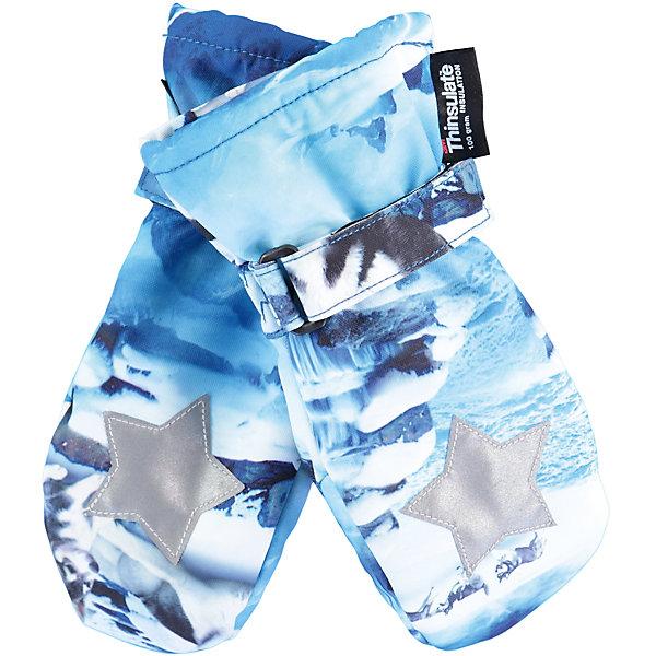 Варежки MOLO для мальчикаПерчатки, варежки<br>Характеристики товара:<br><br>• цвет: голубой<br>• состав ткани: 100% полиэстер<br>• подкладка: 100% полиэстер, флис<br>• утеплитель: Thinsulate<br>• сезон: зима<br>• температурный режим: от -15 до +5<br>• застежка: липучка<br>• страна бренда: Дания<br>• страна изготовитель: Китай<br><br>Эти детские варежки созданы для защиты рук от холода и сырости. Детские теплые варежки сделаны из качественного материала -он не пропускает воду и ветер. Варежки для ребенка дополнены удобной липучкой. Такие варежки для детей отличаются продуманным дизайном. <br><br>Варежки Molo (Моло) для мальчика можно купить в нашем интернет-магазине.<br>Ширина мм: 162; Глубина мм: 171; Высота мм: 55; Вес г: 119; Цвет: белый; Возраст от месяцев: 72; Возраст до месяцев: 96; Пол: Мужской; Возраст: Детский; Размер: 5,3; SKU: 6995094;