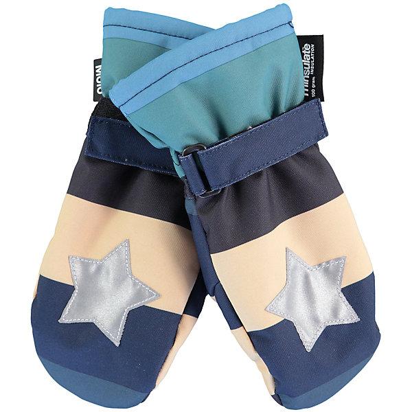 Варежки MOLO для мальчикаПерчатки, варежки<br>Характеристики товара:<br><br>• цвет: синий<br>• состав ткани: 100% полиэстер<br>• подкладка: 100% полиэстер, флис<br>• утеплитель: Thinsulate<br>• сезон: зима<br>• температурный режим: от -15 до +5<br>• застежка: липучка<br>• страна бренда: Дания<br>• страна изготовитель: Китай<br><br>Зимние варежки для детей декорированы светоотражающим элементом в виде фирменной звезды бренда Molo. Детские теплые варежки сделаны из инновационного материала, позволяющего коже дышать. Варежки для ребенка дополнены удобной липучкой. <br><br>Варежки Molo (Моло) для мальчика можно купить в нашем интернет-магазине.<br><br>Ширина мм: 162<br>Глубина мм: 171<br>Высота мм: 55<br>Вес г: 119<br>Цвет: белый<br>Возраст от месяцев: 36<br>Возраст до месяцев: 60<br>Пол: Мужской<br>Возраст: Детский<br>Размер: 3,5<br>SKU: 6995100