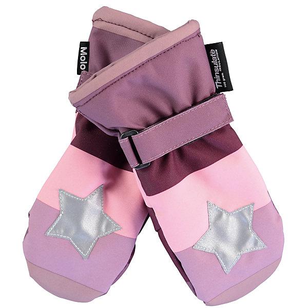 Варежки MOLO для девочкиПерчатки, варежки<br>Характеристики товара:<br><br>• цвет: розовый<br>• состав ткани: 100% полиэстер<br>• подкладка: 100% полиэстер, флис<br>• утеплитель: Thinsulate<br>• сезон: зима<br>• температурный режим: от -15 до +5<br>• застежка: липучка<br>• страна бренда: Дания<br>• страна изготовитель: Китай<br><br>Детские варежки выполнены в оригинальной модной расцветке. Детские теплые варежки сделаны из качественного материала -он не пропускает воду и ветер. Варежки для ребенка дополнены удобной липучкой. Такие варежки для детей отличаются продуманным дизайном. <br><br>Варежки Molo (Моло) для девочки можно купить в нашем интернет-магазине.<br><br>Ширина мм: 162<br>Глубина мм: 171<br>Высота мм: 55<br>Вес г: 119<br>Цвет: белый<br>Возраст от месяцев: 120<br>Возраст до месяцев: 132<br>Пол: Женский<br>Возраст: Детский<br>Размер: 5,3<br>SKU: 6995103