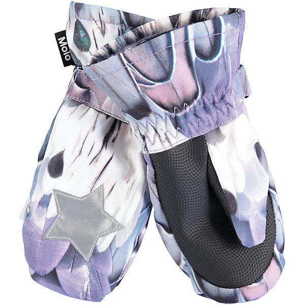 Варежки MOLO для девочкиПерчатки, варежки<br>Характеристики товара:<br><br>• цвет: белый<br>• состав ткани: 100% полиэстер<br>• подкладка: 100% полиэстер, флис<br>• утеплитель: Thinsulate<br>• сезон: зима<br>• температурный режим: от -15 до +5<br>• застежка: липучка<br>• страна бренда: Дания<br>• страна изготовитель: Китай<br><br>Такие детские теплые варежки декорированы оригинальным принтом. Эти варежки для детей сделаны из качественного материала -он не пропускает воду и ветер. Варежки для ребенка дополнены удобной липучкой. Такие варежки для детей отличаются модным дизайном. <br><br>Варежки Molo (Моло) для девочки можно купить в нашем интернет-магазине.<br><br>Ширина мм: 162<br>Глубина мм: 171<br>Высота мм: 55<br>Вес г: 119<br>Цвет: белый<br>Возраст от месяцев: 72<br>Возраст до месяцев: 84<br>Пол: Женский<br>Возраст: Детский<br>Размер: 3,5<br>SKU: 6995106