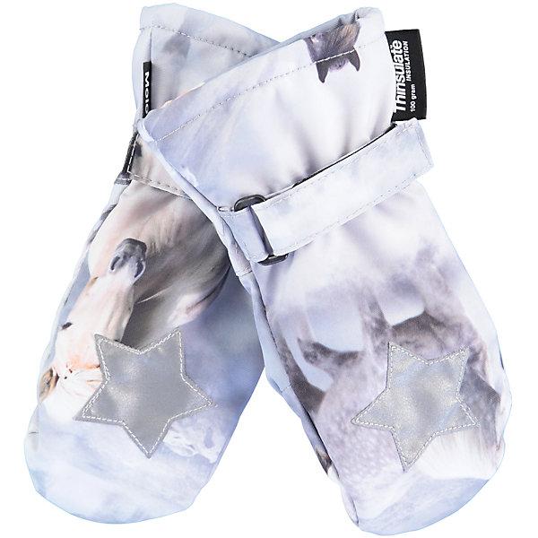 Варежки MOLO для девочкиПерчатки, варежки<br>Характеристики товара:<br><br>• цвет: белый<br>• состав ткани: 100% полиэстер<br>• подкладка: 100% полиэстер, флис<br>• утеплитель: Thinsulate<br>• сезон: зима<br>• температурный режим: от -15 до +5<br>• застежка: липучка<br>• страна бренда: Дания<br>• страна изготовитель: Китай<br><br>Оригинальные детские варежки выполнены в красивой модной расцветке. Детские теплые варежки сделаны из качественного материала -он не пропускает воду и ветер. Варежки для ребенка дополнены удобной липучкой. Такие варежки для детей отличаются продуманным дизайном. <br><br>Варежки Molo (Моло) для девочки можно купить в нашем интернет-магазине.<br><br>Ширина мм: 162<br>Глубина мм: 171<br>Высота мм: 55<br>Вес г: 119<br>Цвет: белый<br>Возраст от месяцев: 72<br>Возраст до месяцев: 84<br>Пол: Женский<br>Возраст: Детский<br>Размер: 3,5<br>SKU: 6995112