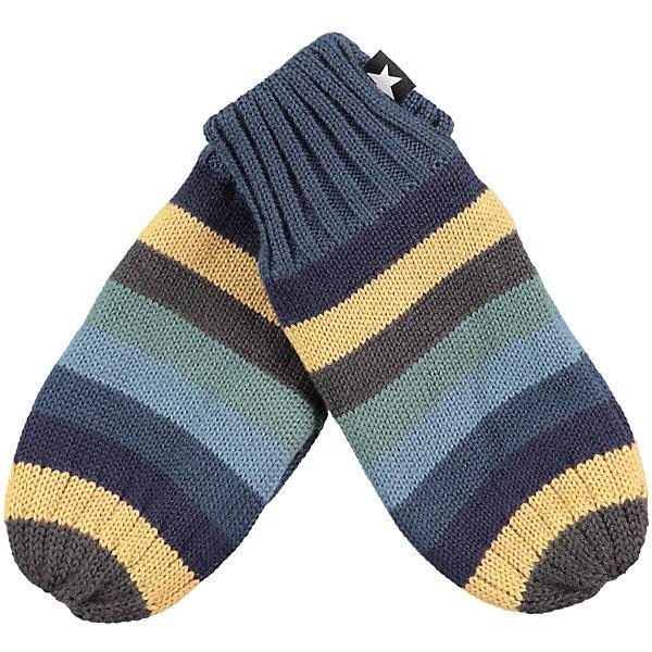 Варежки MOLO для мальчикаПерчатки, варежки<br>Характеристики товара:<br><br>• цвет: синий<br>• состав ткани: 50% шерсть, 50% акрил<br>• сезон: зима<br>• температурный режим: от -10 до +10<br>• страна бренда: Дания<br>• страна изготовитель: Китай<br><br>Такие варежки для ребенка плотно держатся на руке благодаря удобной резинке. Эти теплые варежки разработаны специально для детей. Простые в уходе варежки сделаны из качественного материала. Детские варежки обеспечат защиту от холода в межсезонье и небольшой мороз. <br><br>Варежки Molo (Моло) для мальчика можно купить в нашем интернет-магазине.<br>Ширина мм: 162; Глубина мм: 171; Высота мм: 55; Вес г: 119; Цвет: белый; Возраст от месяцев: 12; Возраст до месяцев: 24; Пол: Мужской; Возраст: Детский; Размер: 2,5,3; SKU: 6995153;