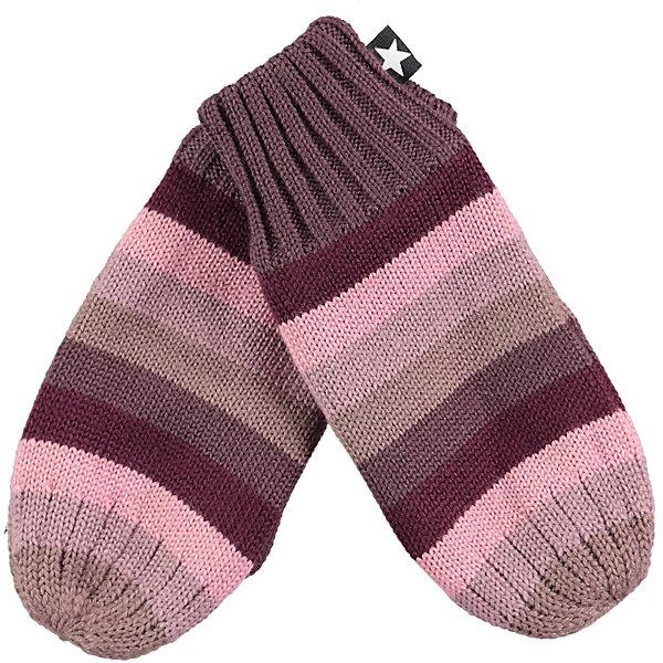Варежки MOLO для девочкиПерчатки, варежки<br>Характеристики товара:<br><br>• цвет: розовый<br>• состав ткани: 50% шерсть, 50% акрил<br>• сезон: зима<br>• температурный режим: от -10 до +10<br>• страна бренда: Дания<br>• страна изготовитель: Китай<br><br>Обеспечить ребенку комфорт и тепло в межсезонье помогут такие теплые варежки. Детские теплые варежки плотно держатся на руке благодаря мягкой широкой резинке. Стильные варежки сделаны из качественного материала - трикотажа плотной вязки. <br><br>Варежки Molo (Моло) для девочки можно купить в нашем интернет-магазине.<br><br>Ширина мм: 162<br>Глубина мм: 171<br>Высота мм: 55<br>Вес г: 119<br>Цвет: белый<br>Возраст от месяцев: 48<br>Возраст до месяцев: 60<br>Пол: Женский<br>Возраст: Детский<br>Размер: 2,5,3<br>SKU: 6995157