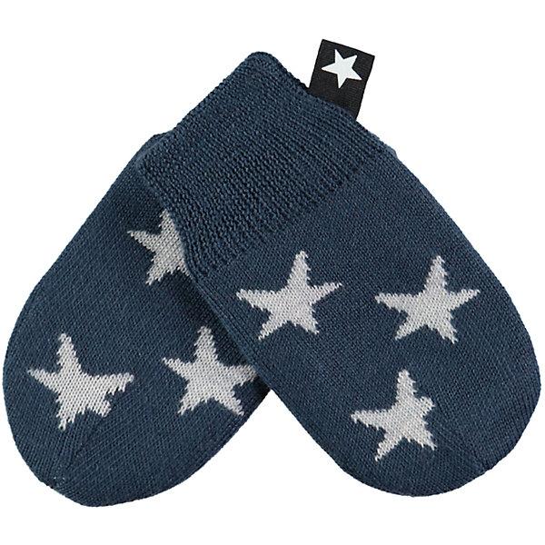 Варежки MOLO для мальчикаПерчатки, варежки<br>Характеристики товара:<br><br>• цвет: синий<br>• состав ткани: 50% шерсть, 50% акрил<br>• сезон: зима<br>• температурный режим: от -10 до +10<br>• страна бренда: Дания<br>• страна изготовитель: Китай<br><br>Вязаные стильные варежки с фирменными звездами Molo сделаны из качественного материала - трикотажа плотной вязки. Обеспечить ребенку комфорт и тепло в межсезонье помогут такие теплые варежки. Детские теплые варежки плотно держатся на руке благодаря мягкой широкой резинке. <br><br>Варежки Molo (Моло) для мальчика можно купить в нашем интернет-магазине.<br><br>Ширина мм: 162<br>Глубина мм: 171<br>Высота мм: 55<br>Вес г: 119<br>Цвет: синий<br>Возраст от месяцев: 6<br>Возраст до месяцев: 12<br>Пол: Мужской<br>Возраст: Детский<br>Размер: 1<br>SKU: 6995208