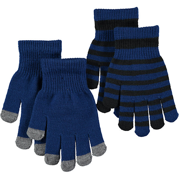 Перчатки MOLO для мальчикаПерчатки, варежки<br>Характеристики товара:<br><br>• цвет: синий<br>• комплектация: 2 пары<br>• состав ткани: 83% акрил, 15% спандекс, 2% эластан<br>• утеплитель: нет<br>• сезон: демисезон<br>• температурный режим: от -10 до +10<br>• застежка: нет<br>• страна бренда: Дания<br>• страна изготовитель: Китай<br><br>Удобные трикотажные перчатки для ребенка отличаются модным дизайном. Простые в уходе перчатки сделаны из качественного материала. Детские перчатки обеспечат защиту от холода в межсезонье и небольшой мороз. Детские теплые перчатки плотно держатся на руке благодаря удобной резинке. <br><br>Перчатки для мальчика Molo (Моло) можно купить в нашем интернет-магазине.<br><br>Ширина мм: 162<br>Глубина мм: 171<br>Высота мм: 55<br>Вес г: 119<br>Цвет: синий<br>Возраст от месяцев: 36<br>Возраст до месяцев: 120<br>Пол: Мужской<br>Возраст: Детский<br>Размер: one size<br>SKU: 6995228