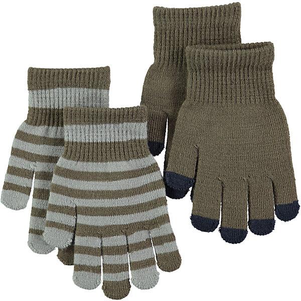 Перчатки MOLO для мальчикаПерчатки, варежки<br>Характеристики товара:<br><br>• цвет: коричневый<br>• комплектация: 2 пары<br>• состав ткани: 83% акрил, 15% спандекс, 2% эластан<br>• утеплитель: нет<br>• сезон: демисезон<br>• температурный режим: от -10 до +10<br>• застежка: нет<br>• страна бренда: Дания<br>• страна изготовитель: Китай<br><br>Демисезонные детские перчатки сделаны из качественного материала - плотного трикотажа. Детские перчатки созданы для защиты от холода в межсезонье и небольшой мороз. Детские теплые перчатки не давят на руку благодаря мягкой резинке. Такие трикотажные перчатки для ребенка отличаются модным дизайном. <br><br>Перчатки для мальчика Molo (Моло) можно купить в нашем интернет-магазине.<br>Ширина мм: 162; Глубина мм: 171; Высота мм: 55; Вес г: 119; Цвет: коричневый; Возраст от месяцев: 36; Возраст до месяцев: 120; Пол: Мужской; Возраст: Детский; Размер: one size; SKU: 6995230;