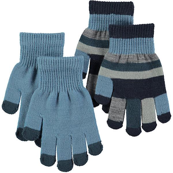Перчатки MOLO для мальчикаПерчатки, варежки<br>Характеристики товара:<br><br>• цвет: серый<br>• комплектация: 2 пары<br>• состав ткани: 83% акрил, 15% спандекс, 2% эластан<br>• утеплитель: нет<br>• сезон: демисезон<br>• температурный режим: от -10 до +10<br>• застежка: нет<br>• страна бренда: Дания<br>• страна изготовитель: Китай<br><br>Стильные перчатки сделаны из качественного материала - трикотажа плотной вязки. В таком комплекте Molo - сразу две пары детских перчаток. Эти перчатки для детей рассчитаны на прохладную погоду. Детские теплые перчатки плотно держатся на руке благодаря мягкой широкой резинке.<br><br>Перчатки для мальчика Molo (Моло) можно купить в нашем интернет-магазине.<br><br>Ширина мм: 162<br>Глубина мм: 171<br>Высота мм: 55<br>Вес г: 119<br>Цвет: голубой<br>Возраст от месяцев: 36<br>Возраст до месяцев: 120<br>Пол: Мужской<br>Возраст: Детский<br>Размер: one size<br>SKU: 6995232