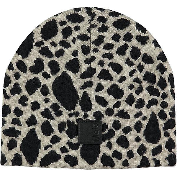 Шапка MOLO для девочкиГоловные уборы<br>Характеристики товара:<br><br>• цвет: серый<br>• состав ткани: 50% шерсть, 50% акрил<br>• сезон: зима<br>• температурный режим: от -10 до +10<br>• страна бренда: Дания<br>• страна изготовитель: Китай<br><br>Оригинальная шапка для ребенка удобно держится на голове благодаря плотной структуре материала и флисовой подкладке. Эта теплая шапка разработана специально для детей. Простая в уходе шапка сделана из качественного материала. Детская шапка обеспечит защиту от холода в межсезонье и небольшой мороз. <br><br>Шапку Molo (Моло) для девочки можно купить в нашем интернет-магазине.<br><br>Ширина мм: 89<br>Глубина мм: 117<br>Высота мм: 44<br>Вес г: 155<br>Цвет: белый<br>Возраст от месяцев: 12<br>Возраст до месяцев: 18<br>Пол: Женский<br>Возраст: Детский<br>Размер: 46-48,55-57,54-56,50-54<br>SKU: 6995289