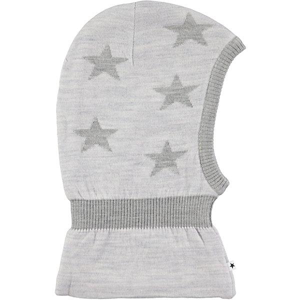 Шапка-шлем MOLOШапочки<br>Характеристики товара:<br><br>• цвет: серый<br>• состав ткани: 50% шерсть, 50% акрил<br>• сезон: зима<br>• температурный режим: от -15 до +5<br>• страна бренда: Дания<br>• страна изготовитель: Китай<br><br>Эта детская шапка-шлем легко стирается и долго служит. Стильная шапка-шлем для ребенка удобно держится на голове благодаря плотной структуре материала. Эта теплая шапка-шлем разработана специально для детей. Детская шапка-шлем обеспечит защиту от холодного воздуха. <br><br>Шапку-шлем Molo (Моло) можно купить в нашем интернет-магазине.<br>Ширина мм: 89; Глубина мм: 117; Высота мм: 44; Вес г: 155; Цвет: светло-серый; Возраст от месяцев: 12; Возраст до месяцев: 24; Пол: Унисекс; Возраст: Детский; Размер: 46-48; SKU: 6995321;