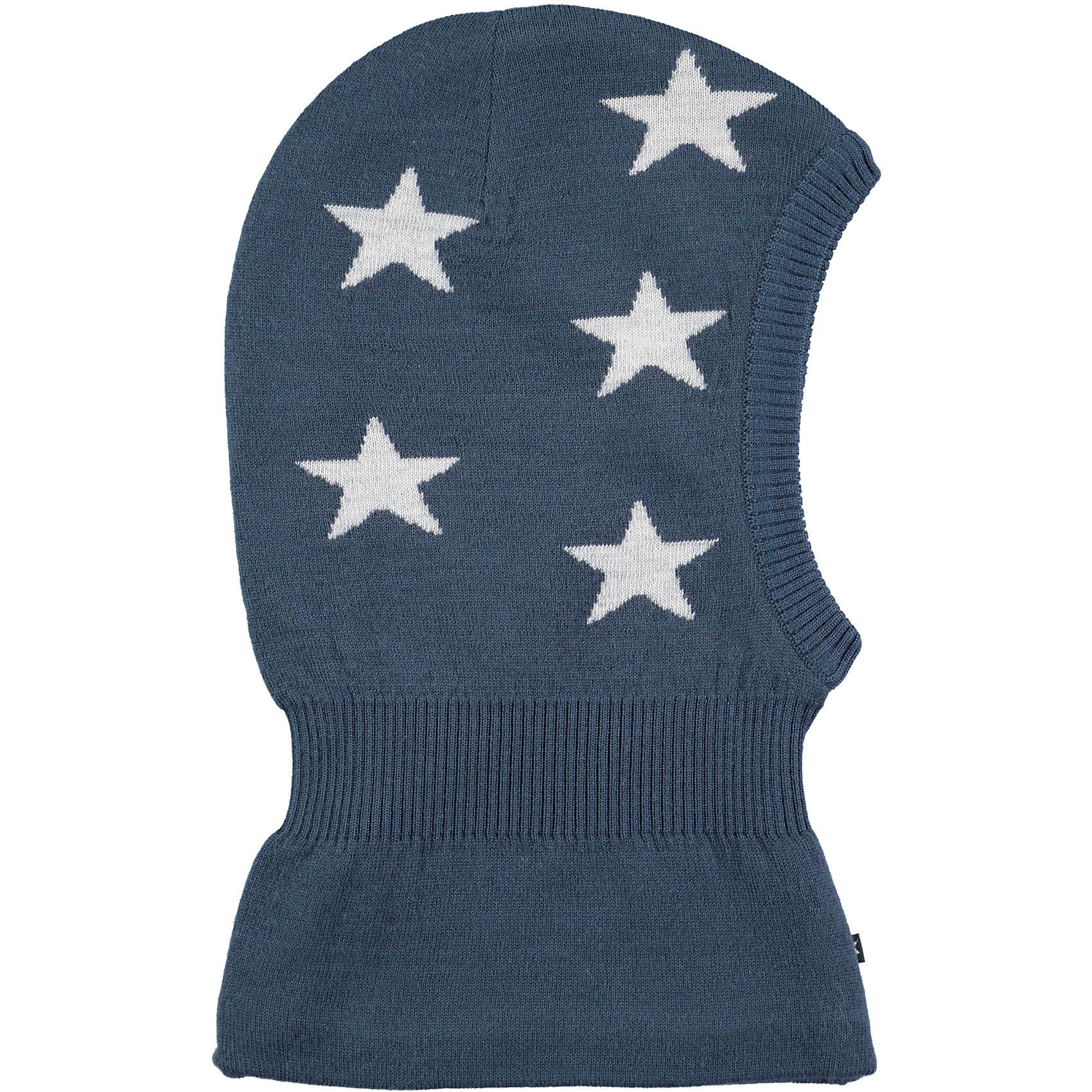Шапка-шлем MOLO для мальчикаГоловные уборы<br>Балаклава зимняя Molo отлично защищает от холода и ветра, изготовлена из высококачественных материалов не вызывающих аллергию, имеет дополнительный флисовый слой<br><br>Ширина мм: 89<br>Глубина мм: 117<br>Высота мм: 44<br>Вес г: 155<br>Цвет: темно-синий<br>Возраст от месяцев: 12<br>Возраст до месяцев: 18<br>Пол: Мужской<br>Возраст: Детский<br>Размер: 46-48,54-56,50-54<br>SKU: 6995333