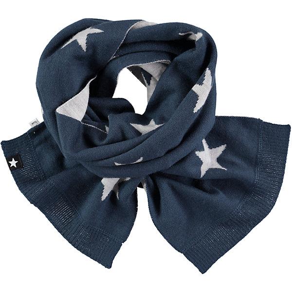 Шарф MOLO для мальчикаШарфы, платки<br>Характеристики товара:<br><br>• цвет: синий<br>• состав ткани: 50% шерсть, 50% акрил<br>• сезон: зима<br>• температурный режим: от -15 до +5<br>• страна бренда: Дания<br>• страна изготовитель: Китай<br><br>Теплый детский шарф декорирован фирменными звездами Molo. Шарф для ребенка поможет дополнить наряд и обеспечить защиту от холода. Этот теплый шарф создан с учетом потребностей детей. Простой в уходе шарф сделан из качественного материала. <br><br>Шарф Molo (Моло) для девочки можно купить в нашем интернет-магазине.<br><br>Ширина мм: 88<br>Глубина мм: 155<br>Высота мм: 26<br>Вес г: 106<br>Цвет: белый<br>Возраст от месяцев: 60<br>Возраст до месяцев: 168<br>Пол: Женский<br>Возраст: Детский<br>Размер: one size<br>SKU: 6995343