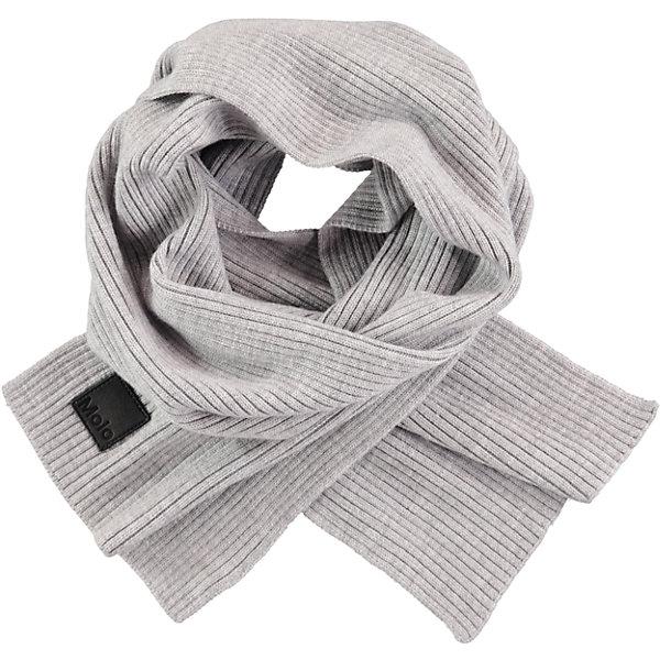 Шарф MOLO для мальчикаШарфы, платки<br>Характеристики товара:<br><br>• цвет: серый<br>• состав ткани: 100% шерсть<br>• сезон: зима<br>• температурный режим: от -15 до +5<br>• страна бренда: Дания<br>• страна изготовитель: Китай<br><br>Шерстяной шарф для ребенка легко стирается и долго служит. Этот детский шарф отличается качественной вязкой. Шарф для ребенка поможет дополнить наряд и обеспечить защиту от холода. Теплый шарф создан с учетом потребностей детей.<br><br>Шарф Molo (Моло) для девочки можно купить в нашем интернет-магазине.<br>Ширина мм: 88; Глубина мм: 155; Высота мм: 26; Вес г: 106; Цвет: белый; Возраст от месяцев: 60; Возраст до месяцев: 168; Пол: Женский; Возраст: Детский; Размер: one size; SKU: 6995347;