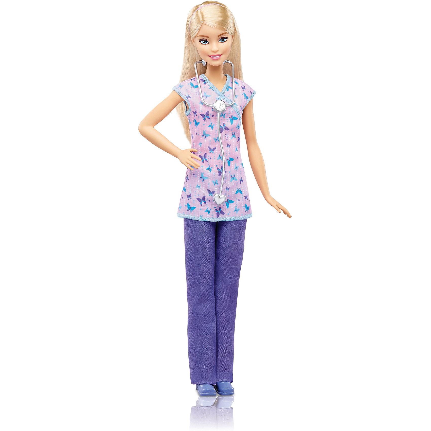 Кукла Barbie из серии «Кем быть?»Куклы-модели<br><br><br>Ширина мм: 334<br>Глубина мм: 113<br>Высота мм: 58<br>Вес г: 182<br>Возраст от месяцев: 36<br>Возраст до месяцев: 72<br>Пол: Женский<br>Возраст: Детский<br>SKU: 6996459