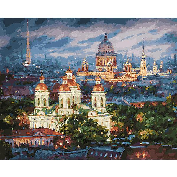 Живопись на холсте  40х50см  Все краски вечера. Санкт-Петербург БелоснежкаРаскраски по номерам<br>Характеристики товара:<br><br>• возраст: от 6 лет;<br>• материалы: дерево, холст;<br>• размер готовой картины: 40х50х3 см.;<br>• количество цветов: 40;<br>• вес: 567 гр.;<br>• бренд: Белоснежка;<br>• страна бренда: Россия;<br>• страна производства: Китай.<br>                                                                                                                                                                                                                                                                                                                       Набор для живописи «Все краски вечера. Санкт-Петербург» поможет вам и вашему ребенку  получить истинное удовольствие от погружения в процесс творчества, а созданные своими руками картины украсят интерьер вашего дома или станут прекрасным подарком. <br><br>В качестве основы картины используется качественный натуральный холст на подрамнике, на холст нанесена схема картины с номерами. Техника раскрашивания по номерам дает возможность легко рисовать даже сложные сюжеты. Прекрасно развивает художественный вкус, аккуратность и внимание, помогает расширить восприятие цветов и различных оттенков у детей и взрослых. Таким образом у вас получится великолепная картина.<br><br>Комплектация:<br>•  холст на подрамнике с нанесенным рисунком;<br>•  контрольный лист с контурным рисунком;<br>•  набор акриловых красок на водной основе;<br>•  кисти – 3 шт;<br>•  крепление для готовой картины;<br>•  инструкция.<br><br>Набор для живописи «Все краски вечера. Санкт-Петербург», Белоснежка  можно купить в нашем интернет-магазине.<br>Ширина мм: 410; Глубина мм: 310; Высота мм: 25; Вес г: 567; Возраст от месяцев: 72; Возраст до месяцев: 2147483647; Пол: Унисекс; Возраст: Детский; SKU: 6997965;