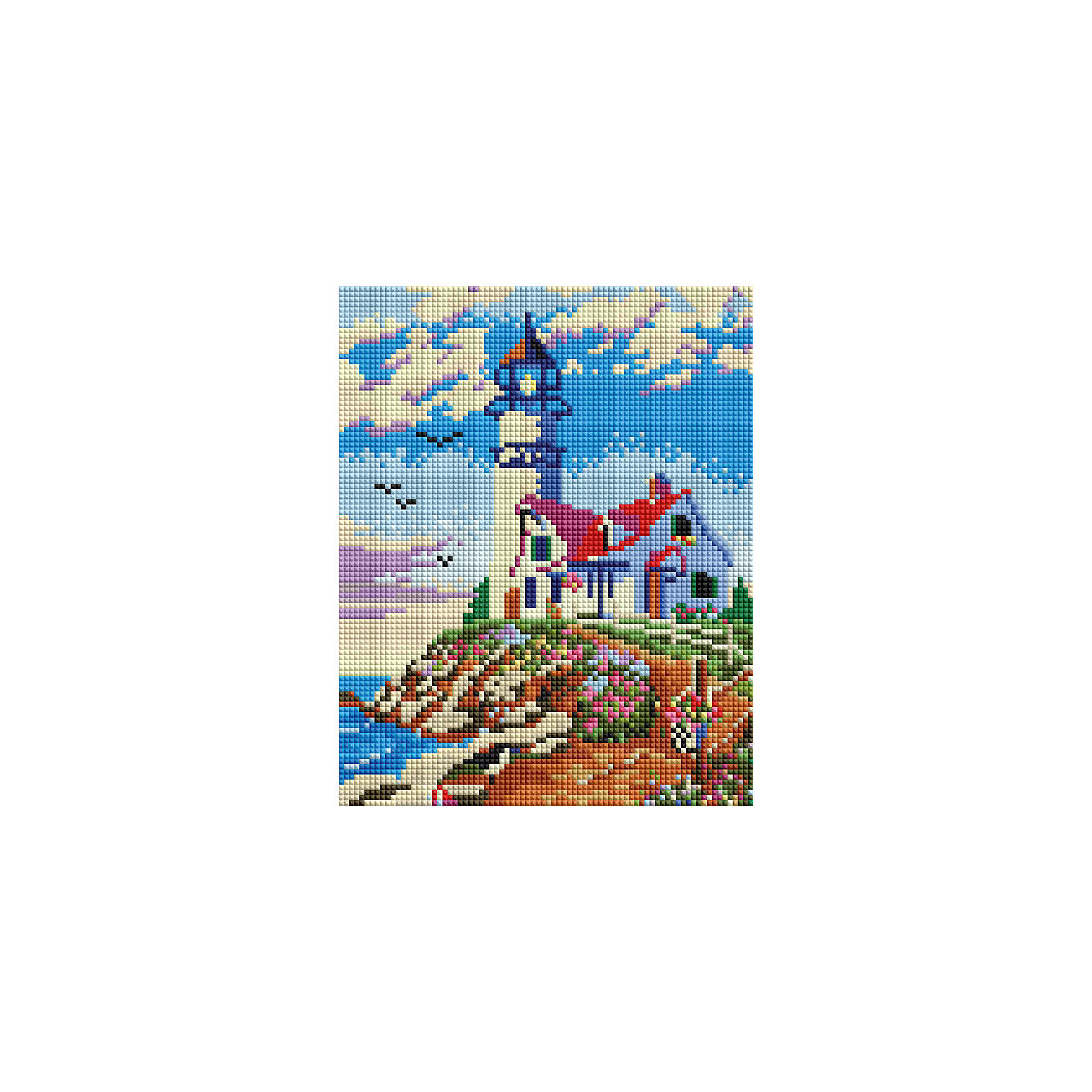 Мозаичная картина на холсте 20х25см Старый маяк Белоснежка
