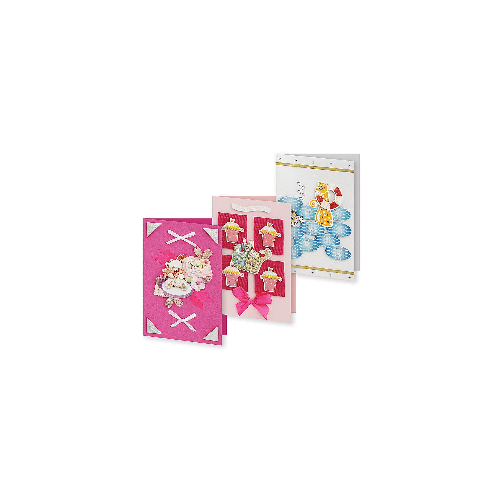 Набор для создания 3-х открыток Маскарад БелоснежкаБумага<br>Характеристики товара:<br><br>• возраст: от 6 лет;<br>• упаковка: прозрачный пакет с хедером;<br>• размер упаковки: 24х15х1 см..;<br>• материал: плотный картон, бумага для скрапбукинга, пластик, текстиль;<br>• размер открытки: 11,5х17 см.;<br>• вес: 80 гр.;<br>• бренд: Белоснежка;<br>• страна бренда: Россия;<br>• страна производства: Китай.<br>                                                                                                                                                                                                                                                                                                                       Набор для создания 3-х открыток «Маскарад» дополнен оригинальными карточками в стиле Шебби-Шик, необходимо только вырезать заготовки из макета и закрепить на открытке. Красивые элементы помогут сделать открытки более яркими и разнообразными. При их создании можно воспользоваться подсказками, расположенными на упаковке или придумать свою композицию.<br><br>Скрапбукинг стал популярным и модным увлечением во всём мире, которое помогает развививать у вас и вашего ребенка  мышление, моторику и фантазию, тренирует память, расширяет восприятие цветов и различных оттенков, пространственное мышление. Процесс создания открыток раскроет ваш  творческий потенциал,  а сама открытка будет неповторимым подарком для друзей и близких.          <br><br>Комплектация:<br><br>• 3 заготовки для открыток 11,5х17 см.;<br>• 3 конверта;<br>• 3 визитки-поздравления;<br>• клеевые подушечки;<br>• декоративные элементы: вырубка из картона, ленты, паетки, стразы, полубусины.       <br><br>Набор для создания 3-х открыток «Маскарад», Белоснежка  можно купить в нашем интернет-магазине.<br><br>Ширина мм: 240<br>Глубина мм: 147<br>Высота мм: 5<br>Вес г: 80<br>Возраст от месяцев: 72<br>Возраст до месяцев: 2147483647<br>Пол: Унисекс<br>Возраст: Детский<br>SKU: 6997993