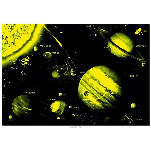 Пазл Солнечная система с неоновым свечением, 1000 деталей , EducaПазлы классические<br>Характеристики товара:<br><br>• возраст: от 6 лет;<br>• количество деталей: 1000;<br>• размер собранной картины: 68х48 см.;<br>• наличие клея: в комплекте;<br>• материал: картон;<br>• упаковка: картонная каробка;<br>• вес: 760 гр.;<br>• бренд, страна бренда: Educa (Эдука), Испания;<br>• страна-производитель: Испания.<br>                                                                                                                                                                                                                                                                                                                       <br>Пазл «Солнечная система», состоящий из 1000 элементов, придется по душе всей вашей семье, ведь собрав этот пазл, вы получите великолепную картину, которая отлично впишется в интерьер любого помещения.<br><br>Пазл выполнен из высококачественных материалов, что обеспечивает идеальное прилегание элементов друг к другу. Благодаря специальным компонентам в сотаве, элементы пазла светятся в темноте. В комплекте специальный сухой клей, чтобы после сборки склеить части мозайки и сохранить прочность собранной картины на долгое время.<br><br>Собирание пазлов это не только интересно, но и полезно: ведь в процессе создания картинки развивается мелкая моторика, тренируются наблюдательность и логическое мышление.<br><br>Испанская компания Educa Borras, SA выпускает пазлы различной сложности и имеет уникальный сервис: бесплатную доставку в любую точку мира потерянной детали.<br><br>Пазл «Солнечная система»,неон, 1000 деталей,  Educa (Эдука) можно купить в нашем интернет-магазине.<br><br>Ширина мм: 370<br>Глубина мм: 55<br>Высота мм: 270<br>Вес г: 760<br>Возраст от месяцев: 36<br>Возраст до месяцев: 2147483647<br>Пол: Унисекс<br>Возраст: Детский<br>SKU: 6999028