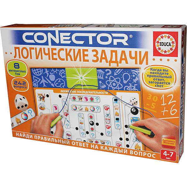 Электровикторина, Логические задачи, EducaВикторины и ребусы<br>Характеристики товара:<br><br>• возраст: от 4 лет;<br>• наличие батареек: не входят в комплекте;<br>• тип батареек:  2 х 1,5V типа LR6;<br>• материал: картон, бумага, пластик, металл;<br>• упаковка: картонная каробка;<br>• размер упаковки: 38х25,5х5,5 см.;<br>• вес: 460 гр.;<br>• бренд, страна бренда: Educa (Эдука), Испания;<br>• страна-производитель: Испания.<br>                                                                                                                                                                                                                                                                                                                       <br>Электровикторина «Логические задачи» - это увлекательная игра в вопросы и ответы, которая поможет детям открыть и узнать много нового в различных областях знаний. <br>Вопросы по каждой теме были разработаны профессиональными педагогами с учетом детской психологии. <br><br>Вопросы соединяются с ответами посредством электронной схемы. Правильные ответы на всех карточках расположены по-разному, поэтому ребенок не может схитрить и должен руководствоваться собственными знаниями. <br><br>Одновременно может играть один и более игроков. Комплект игры состоит из электронной схемы для самопроверки и 8 иллюстрированных карточек, содержащих 242 вопроса на различные темы: Как ты одеваешься?, Чего не хватает?, Найди лишнее, Сколько их?, Кому принадлежит?, Логические последовательности, Сложение и вычитание, Найди соответствие. <br><br>Также прилагается инструкция на русском языке. Необходимо докупить 2 батарейки напряжением 1,5V типа LR6 (не входят в комплект). <br><br>Электровикторину «Логические задачи»,  Educa (Эдука) можно купить в нашем интернет-магазине.<br>Ширина мм: 255; Глубина мм: 55; Высота мм: 385; Вес г: 532; Возраст от месяцев: 48; Возраст до месяцев: 168; Пол: Унисекс; Возраст: Детский; SKU: 6999031;