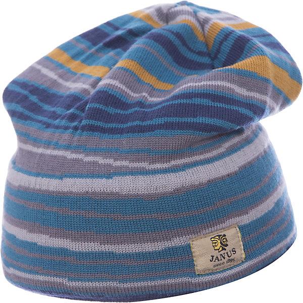 Шапка Janus для мальчикаГоловные уборы<br>Характеристики товара:<br><br>• цвет: синий<br>• состав ткани: 100% шерсть мериноса<br>• утеплитель: нет<br>• сезон: демисезон<br>• температурный режим: от -10 до +5 <br>• застежка: нет<br>• страна бренда: Норвегия<br>• страна изготовитель: Норвегия<br><br>Теплая детская шапка сделана из качественного материала, содержащего натуральную шерсть мериноса. Шерстяная шапка для детей отлично подходит для ношения в межсезонье. Благодаря мягкому материалу эта шапка для детей комфортно сидит. <br><br>Шапку Janus (Янус) для мальчика можно купить в нашем интернет-магазине.<br>Ширина мм: 89; Глубина мм: 117; Высота мм: 44; Вес г: 155; Цвет: синий; Возраст от месяцев: 72; Возраст до месяцев: 84; Пол: Мужской; Возраст: Детский; Размер: 51-53,53-55; SKU: 7001387;
