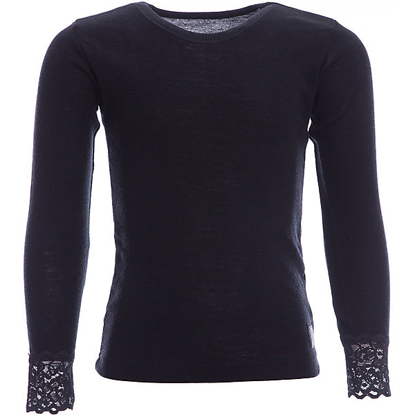Футболка с длинным рукавом Janus для девочкиФутболки с длинным рукавом<br>Характеристики товара:<br><br>• цвет: черный<br>• состав ткани: 100% шерсть мериноса<br>• подкладка: нет<br>• сезон: зима<br>• длинные рукава<br>• страна бренда: Норвегия<br>• страна изготовитель: Норвегия<br><br>Благодаря декору из кружев такие футболки для детей можно носить как самостоятельную одежду или как термобелье. Шерстяная футболка для детей отлично подходят для ношения в холодную погоду. Детская футболка с длинным рукавом от норвежского бренда Janus сделана из натуральной шерсти мериноса - теплой и гипоаллергенной. <br><br>Футболку с длинным рукавом Janus (Янус) для девочки можно купить в нашем интернет-магазине.<br><br>Ширина мм: 199<br>Глубина мм: 10<br>Высота мм: 161<br>Вес г: 151<br>Цвет: черный<br>Возраст от месяцев: 96<br>Возраст до месяцев: 108<br>Пол: Женский<br>Возраст: Детский<br>Размер: 130,170,140,150,160<br>SKU: 7001488