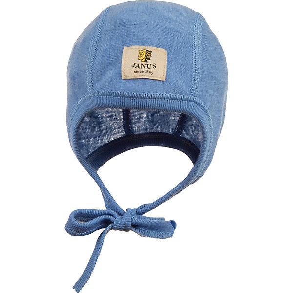 Чепчик Janus для мальчикаШапочки<br>Характеристики товара:<br><br>• цвет: голубой<br>• состав ткани: 100% шерсть мериноса<br>• подкладка: нет<br>• сезон: круглый год<br>• застежка: завязки<br>• страна бренда: Норвегия<br>• страна изготовитель: Норвегия<br><br>При производстве детской одежды Janus используются только качественные безопасные материалы. Легкий детский чепчик сделан из шерсти мериноса, поэтому чепчик позволяет коже дышать и впитывает лишнюю влагу. Этот детский чепчик Janus легко надевается благодаря удобным завязкам. <br><br>Чепчик Janus (Янус) для мальчика можно купить в нашем интернет-магазине.<br><br>Ширина мм: 157<br>Глубина мм: 13<br>Высота мм: 119<br>Вес г: 200<br>Цвет: голубой<br>Возраст от месяцев: 0<br>Возраст до месяцев: 6<br>Пол: Мужской<br>Возраст: Детский<br>Размер: 60<br>SKU: 7001583