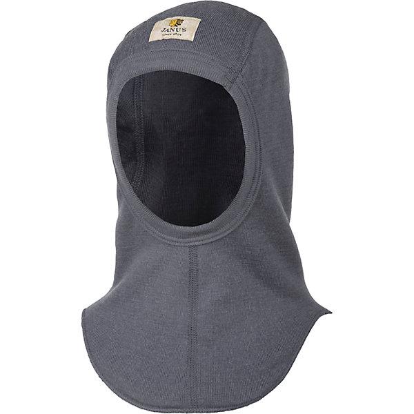 Шапка-шлем  Janus для мальчикаГоловные уборы<br>Характеристики товара:<br><br>• цвет: серый<br>• состав ткани: 100% шерсть мериноса<br>• утеплитель: нет<br>• сезон: зима<br>• температурный режим: от -10 до +5 <br>• двухслойная<br>• страна бренда: Норвегия<br>• страна изготовитель: Норвегия<br><br>Такая шапка-шлем для детей сделана из эластичного и мягкого материала, которые обеспечивает комфортную посадку. Детская шапка-шлем стильно выглядит. Такая шапка-шлем для ребенка - из качественного материала, содержащего натуральную шерсть мериноса, которая известна отличной терморегуляцией. <br><br>Шапку-шлем Janus (Янус) для мальчика можно купить в нашем интернет-магазине.<br><br>Ширина мм: 89<br>Глубина мм: 117<br>Высота мм: 44<br>Вес г: 155<br>Цвет: серый<br>Возраст от месяцев: 72<br>Возраст до месяцев: 84<br>Пол: Мужской<br>Возраст: Детский<br>Размер: 51-53,53-55<br>SKU: 7001778
