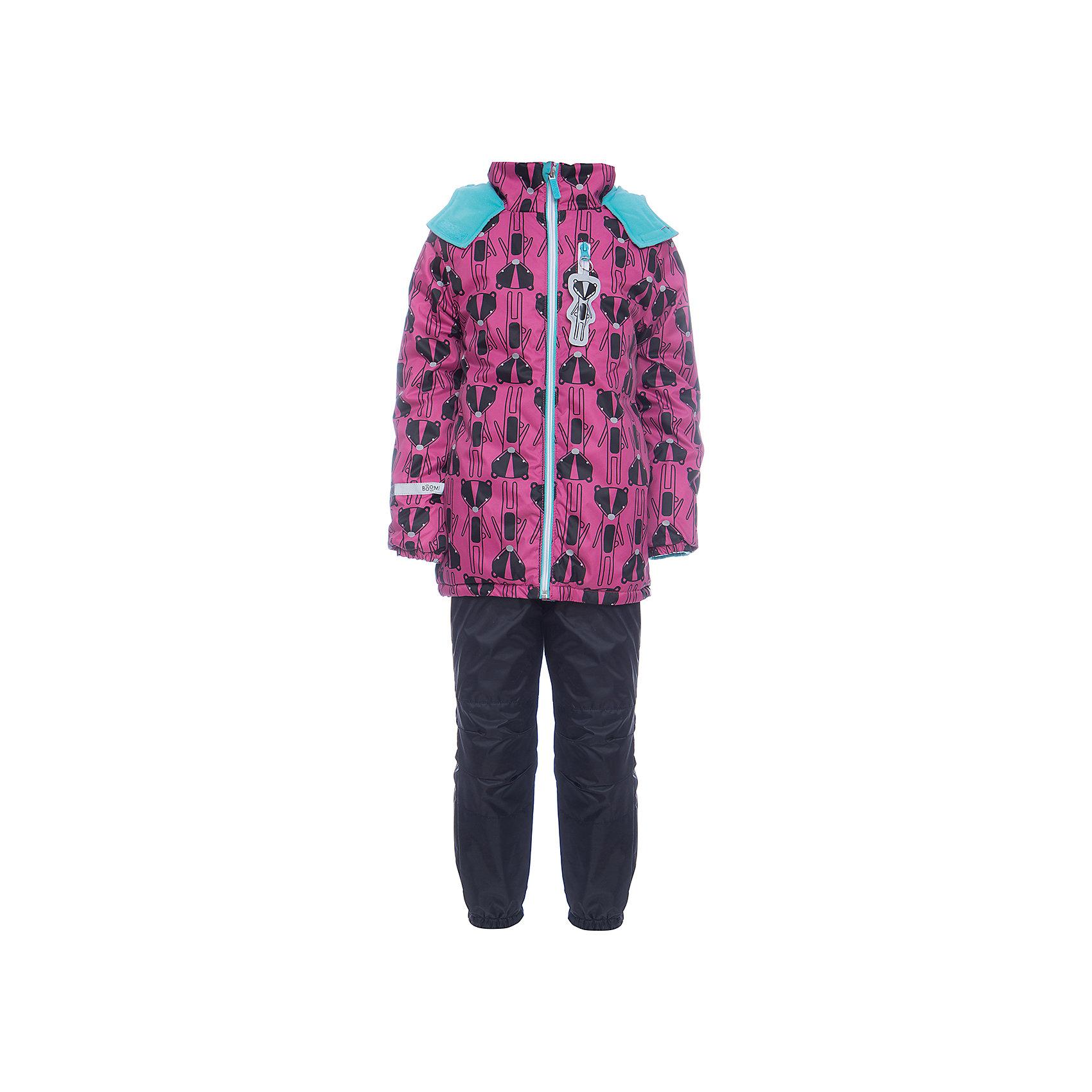 Комплект: куртка и брюки BOOM by Orby для девочкиВерхняя одежда<br>Характеристики товара:<br><br>• цвет: розовый<br>• ткань верха: Нейлон с мембранным покрытием 3000х3000<br>• подкладка: куртка - поларфлис; брюки - поларфлис; ПЭ пуходержащий<br>• утеплитель: куртка - FiberSoft 150 г/м2<br>• сезон: демисезон<br>• температурный режим: от 0°до +15°С<br>• особенности куртки: на молнии, швы проклеены, со светоотражающими элементами<br>• особенности брюк: на резинке<br>• капюшон: без меха <br>• страна бренда: Россия<br>• страна изготовитель: Россия<br><br>Демисезонный комплект для девочки состоит из куртки с капюшоном и удобных брюк. Мембранное покрытие делает его подходящим для сырой и холодной погоды. Модный и удобный комплект создан специально для девочек. <br><br>Комплект: куртка и брюки BOOM by Orby для девочки можно купить в нашем интернет-магазине.<br><br>Ширина мм: 356<br>Глубина мм: 10<br>Высота мм: 245<br>Вес г: 519<br>Цвет: розовый<br>Возраст от месяцев: 72<br>Возраст до месяцев: 84<br>Пол: Женский<br>Возраст: Детский<br>Размер: 122,104,86,92,98,110,116<br>SKU: 7007038