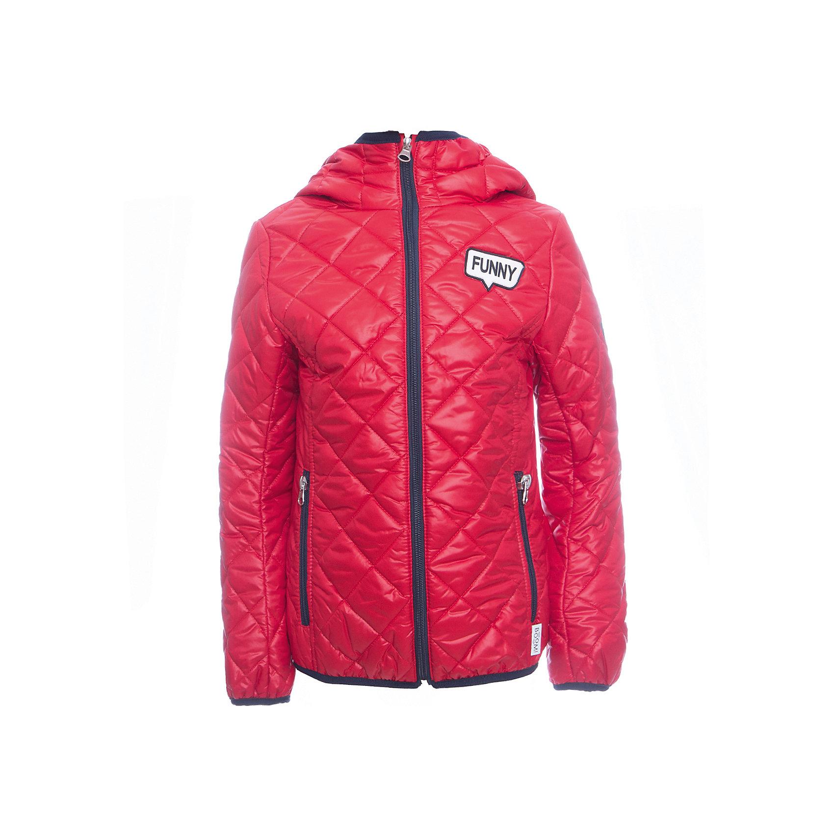 Куртка BOOM by Orby для девочкиВерхняя одежда<br>Характеристики товара:<br><br>• цвет: красный<br>• ткань верха: Таффета oil cire pu milky стеганая <br>• подкладка: ПЭ пуходержащий<br>• утеплитель: Эко синтепон 150 г/м2<br>• сезон: демисезон<br>• температурный режим: от 0°до +15°С<br>• особенности: на молнии, стеганая<br>• тип куртки: стеганая<br>• капюшон: без меха, несъемный<br>• страна бренда: Россия<br>• страна изготовитель: Россия<br><br>Демисезонная яркая курточка для девочки стильно выглядит и удобно сидит. Благодаря утеплителю, оптимальному прилеганию и капюшону такая куртка защитит ребенка от холода и сырости в демисезон. <br><br>Куртку BOOM by Orby для девочки можно купить в нашем интернет-магазине.<br><br>Ширина мм: 356<br>Глубина мм: 10<br>Высота мм: 245<br>Вес г: 519<br>Цвет: красный<br>Возраст от месяцев: 36<br>Возраст до месяцев: 48<br>Пол: Женский<br>Возраст: Детский<br>Размер: 104,110,98,116,122,128,134,140,146,152,158<br>SKU: 7007212