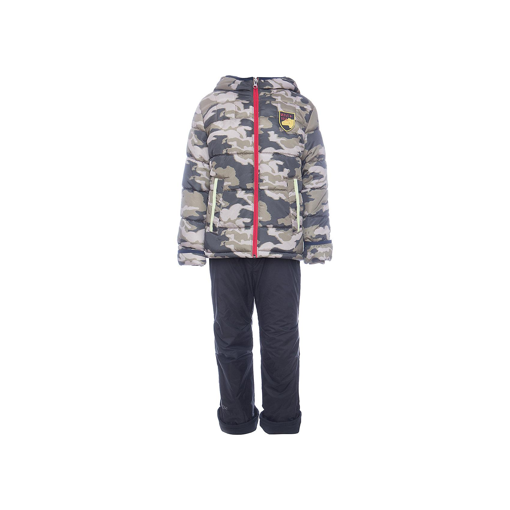 Комплект: куртка и брюки BOOM by Orby для мальчикаВерхняя одежда<br>Характеристики товара:<br><br>• цвет: коричневый<br>• ткань верха: Таффета pu milky<br>• подкладка: куртка - Флис; ПЭ пуходержащий, брюки - флис<br>• утеплитель: куртка - Flexy Fiber 200 г/м2<br>• отделка: Таслан pu milky<br>• сезон: демисезон<br>• температурный режим: от -5°до +10°С<br>• особенности куртки: на молнии, со светоотражающими элементами<br>• особенности брюк: на резинке, есть регулирующие лямки<br>• капюшон: без меха, несъемный<br>• страна бренда: Россия<br>• страна изготовитель: Россия<br><br>Удобный комплект для мальчика позволит обеспечить ребенку комфорт в демисезон. Куртка и брюки защитят от сырости в дождливую погоду и согреют в небольшой мороз.<br><br>Комплект: куртка и брюки BOOM by Orby для мальчика можно купить в нашем интернет-магазине.<br><br>Ширина мм: 356<br>Глубина мм: 10<br>Высота мм: 245<br>Вес г: 519<br>Цвет: коричневый<br>Возраст от месяцев: 48<br>Возраст до месяцев: 60<br>Пол: Мужской<br>Возраст: Детский<br>Размер: 110,116,122,104,86,92,98<br>SKU: 7007342