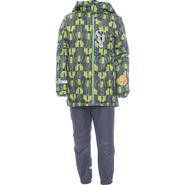Комплект: куртка и брюки BOOM by Orby для мальчикаВерхняя одежда<br>Характеристики товара:<br><br>• цвет: серый<br>• ткань верха: Нейлон с мембранным покрытием 3000х3000<br>• подкладка: куртка - Поларфлис; ПЭ пуходержащий, брюки - Поларфлис<br>• утеплитель: куртка - Flexy Fiber 150 г/м2<br>• сезон: демисезон<br>• температурный режим: от +10°до -5°С<br>• особенности куртки: на молнии, со светоотражающими элементами<br>• особенности брюк: на резинке<br>• капюшон: без меха<br>• страна бренда: Россия<br>• страна изготовитель: Россия<br><br>Мембранный детский комплект - куртка и брюки - защитит ребенка от сырости в дождливую погоду и согреют в небольшой мороз. Удобный и модный комплект для мальчика позволит обеспечить ребенку комфорт в демисезон. <br><br>Комплект: куртка и брюки BOOM by Orby для мальчика можно купить в нашем интернет-магазине.<br>Ширина мм: 356; Глубина мм: 10; Высота мм: 245; Вес г: 519; Цвет: серый; Возраст от месяцев: 36; Возраст до месяцев: 48; Пол: Мужской; Возраст: Детский; Размер: 104,122,116,110,98,92,86; SKU: 7007358;