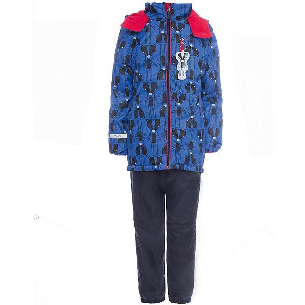 Комплект: куртка и брюки BOOM by Orby для мальчикаВерхняя одежда<br>Характеристики товара:<br><br>• цвет: синий<br>• ткань верха: Нейлон с мембранным покрытием 3000х3000<br>• подкладка: куртка - Поларфлис; ПЭ пуходержащий, брюки - Поларфлис<br>• утеплитель: куртка - Flexy Fiber 150 г/м2<br>• сезон: демисезон<br>• температурный режим: от +10°до -5°С<br>• особенности куртки: на молнии, со светоотражающими элементами<br>• особенности брюк: на резинке<br>• капюшон: без меха<br>• страна бренда: Россия<br>• страна изготовитель: Россия<br><br>Удобный и модный комплект для мальчика сделан с применением мембранной технологии, которая защищает от ветра, сырости и грязи. Он позволит обеспечить ребенку комфорт в демисезон. <br><br>Комплект: куртка и брюки BOOM by Orby для мальчика можно купить в нашем интернет-магазине.<br>Ширина мм: 356; Глубина мм: 10; Высота мм: 245; Вес г: 519; Цвет: синий; Возраст от месяцев: 24; Возраст до месяцев: 36; Пол: Мужской; Возраст: Детский; Размер: 98,110,116,122,104,86,92; SKU: 7007366;