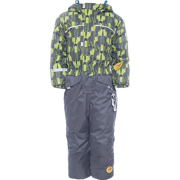 Комбинезон BOOM by Orby для мальчикаВерхняя одежда<br>Характеристики товара:<br><br>• цвет: серый<br>• ткань верха: Нейлон с мембранным покрытием 3000х3000<br>• подкладка: Поларфлис; ПЭ пуходержащий<br>• утеплитель: FiberSoft 150 г/м2<br>• сезон: демисезон<br>• температурный режим: от 0°до +15°С<br>• особенности: на молнии, с ветрозащитным клапаном на липучке<br>• тип комбинезона: с принтом, эластичные резинки на талии, рукавах и штанинах<br>• капюшон: без меха, несъемный<br>• страна бренда: Россия<br>• страна изготовитель: Россия<br><br>Красивый принтованный комбинезон для мальчика - одна из самых модных моделей наступающего сезона. Благодаря красивому цвету, капюшону и большим карманам детский комбинезон стильно смотрится и хорошо сидит по фигуре. <br><br>Комбинезон BOOM by Orby для мальчика можно купить в нашем интернет-магазине.<br><br>Ширина мм: 356<br>Глубина мм: 10<br>Высота мм: 245<br>Вес г: 519<br>Цвет: серый<br>Возраст от месяцев: 12<br>Возраст до месяцев: 15<br>Пол: Мужской<br>Возраст: Детский<br>Размер: 80,116,110,98,92,104,86<br>SKU: 7007450