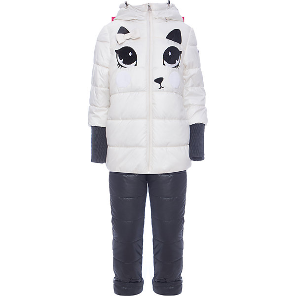Комплект: куртка и брюки BOOM by Orby для девочкиВерхняя одежда<br>Характеристики товара:<br><br>• цвет: белый<br>• ткань верха: куртка - Таффета oil cire pu milky, брюки - Болонь pu milky<br>• подкладка: куртка - Флис; ПЭ пуходержащий; брюки - ПЭ пуходержащий<br>• утеплитель: куртка - Flexy Fiber 200 г/м2; брюки - Flexy Fiber 80 г/м2<br>• сезон: демисезон<br>• температурный режим: от -10° до +10°С<br>• особенности куртки: на молнии, дутая<br>• особенности брюк: на резинке, дутые<br>• капюшон: без меха <br>• страна бренда: Россия<br>• страна изготовитель: Россия<br><br>Демисезонный комплект для девочки состоит из куртки с капюшоном и удобных брюк. Утеплитель и плотная ткань верха делает его подходящим для сырой и холодной погоды. Модный и удобный комплект создан специально для девочек. <br><br>Комплект: куртка и брюки BOOM by Orby для девочки можно купить в нашем интернет-магазине.<br>Ширина мм: 356; Глубина мм: 10; Высота мм: 245; Вес г: 519; Цвет: белый; Возраст от месяцев: 24; Возраст до месяцев: 36; Пол: Женский; Возраст: Детский; Размер: 98,110,122,116,92,86,104; SKU: 7007608;