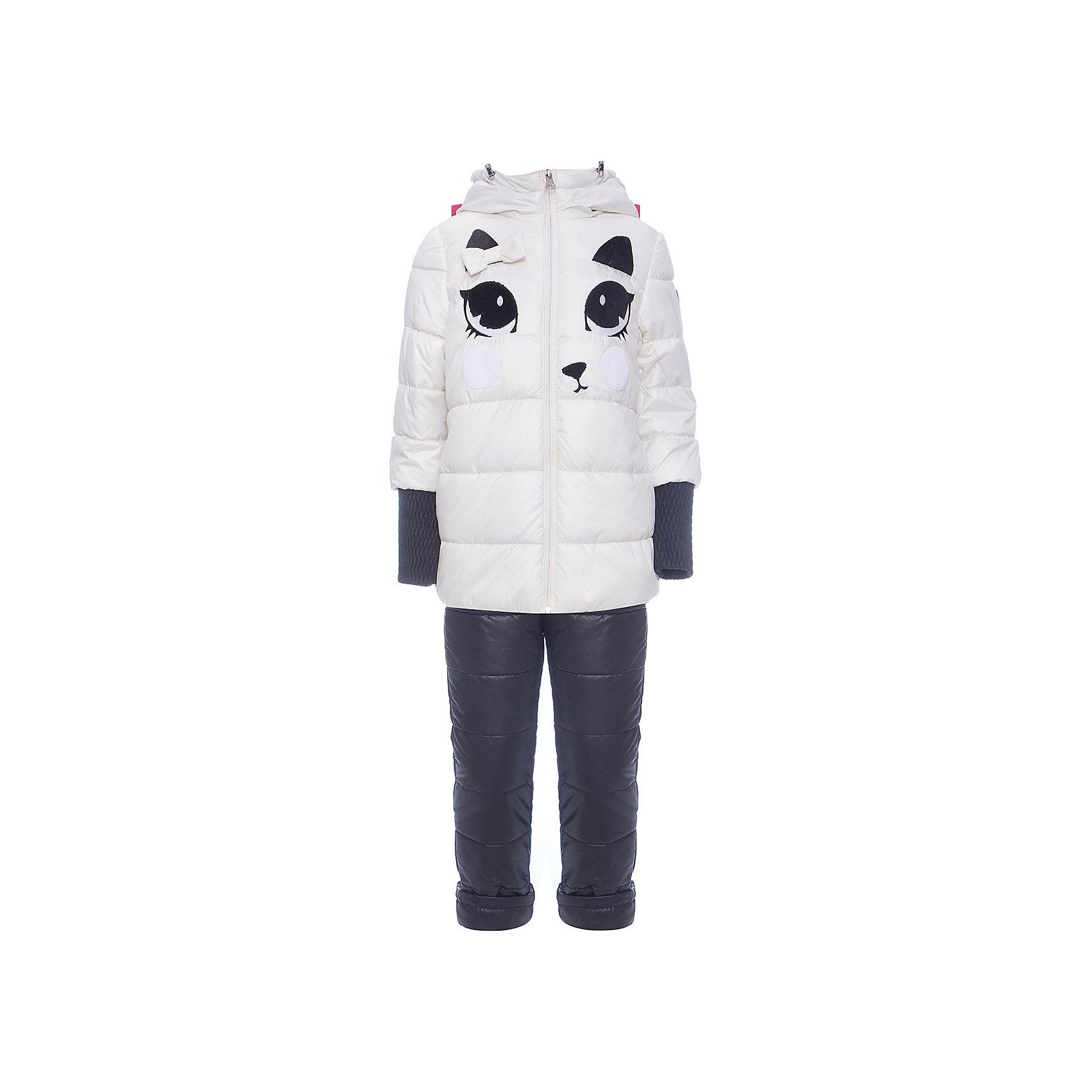 Комплект: куртка и брюки BOOM by Orby для девочкиВерхняя одежда<br>Характеристики товара:<br><br>• цвет: белый<br>• ткань верха: куртка - Таффета oil cire pu milky, брюки - Болонь pu milky<br>• подкладка: куртка - Флис; ПЭ пуходержащий; брюки - ПЭ пуходержащий<br>• утеплитель: куртка - Flexy Fiber 200 г/м2; брюки - Flexy Fiber 80 г/м2<br>• сезон: демисезон<br>• температурный режим: от -10° до +10°С<br>• особенности куртки: на молнии, дутая<br>• особенности брюк: на резинке, дутые<br>• капюшон: без меха <br>• страна бренда: Россия<br>• страна изготовитель: Россия<br><br>Демисезонный комплект для девочки состоит из куртки с капюшоном и удобных брюк. Утеплитель и плотная ткань верха делает его подходящим для сырой и холодной погоды. Модный и удобный комплект создан специально для девочек. <br><br>Комплект: куртка и брюки BOOM by Orby для девочки можно купить в нашем интернет-магазине.<br><br>Ширина мм: 356<br>Глубина мм: 10<br>Высота мм: 245<br>Вес г: 519<br>Цвет: белый<br>Возраст от месяцев: 48<br>Возраст до месяцев: 60<br>Пол: Женский<br>Возраст: Детский<br>Размер: 110,122,104,86,92,98,116<br>SKU: 7007608