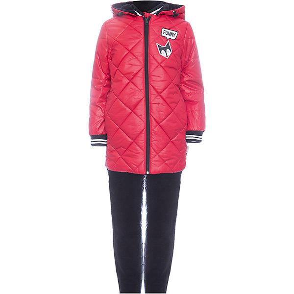Комплект: куртка и брюки BOOM by Orby для девочкиВерхняя одежда<br>Характеристики товара:<br><br>• цвет: красный<br>• ткань верха: куртка - Таффета oil cire pu milky, брюки - Болонь pu milky<br>• подкладка: куртка - Флис; ПЭ пуходержащий; брюки - ПЭ пуходержащий<br>• утеплитель: куртка - Эко синтепон 200 г/м2; брюки - Эко синтепон 80 г/м2<br>• сезон: демисезон<br>• температурный режим: от -10° до +10°С<br>• особенности куртки: на молнии, стеганая<br>• особенности брюк: на резинке, дутые<br>• капюшон: без меха <br>• страна бренда: Россия<br>• страна изготовитель: Россия<br><br>Отличный вариант модно и удобно одеть ребенка в демисезон - приобрести такой комплект. Этот утепленный комплект для девочки состоит из куртки с капюшоном и удобных брюк. Утеплитель и плотная ткань верха делает его подходящим для сырой и холодной погоды. <br><br>Комплект: куртка и брюки BOOM by Orby для девочки можно купить в нашем интернет-магазине.<br>Ширина мм: 356; Глубина мм: 10; Высота мм: 245; Вес г: 519; Цвет: красный; Возраст от месяцев: 48; Возраст до месяцев: 60; Пол: Женский; Возраст: Детский; Размер: 110,104,122,116,98,92,86; SKU: 7007624;