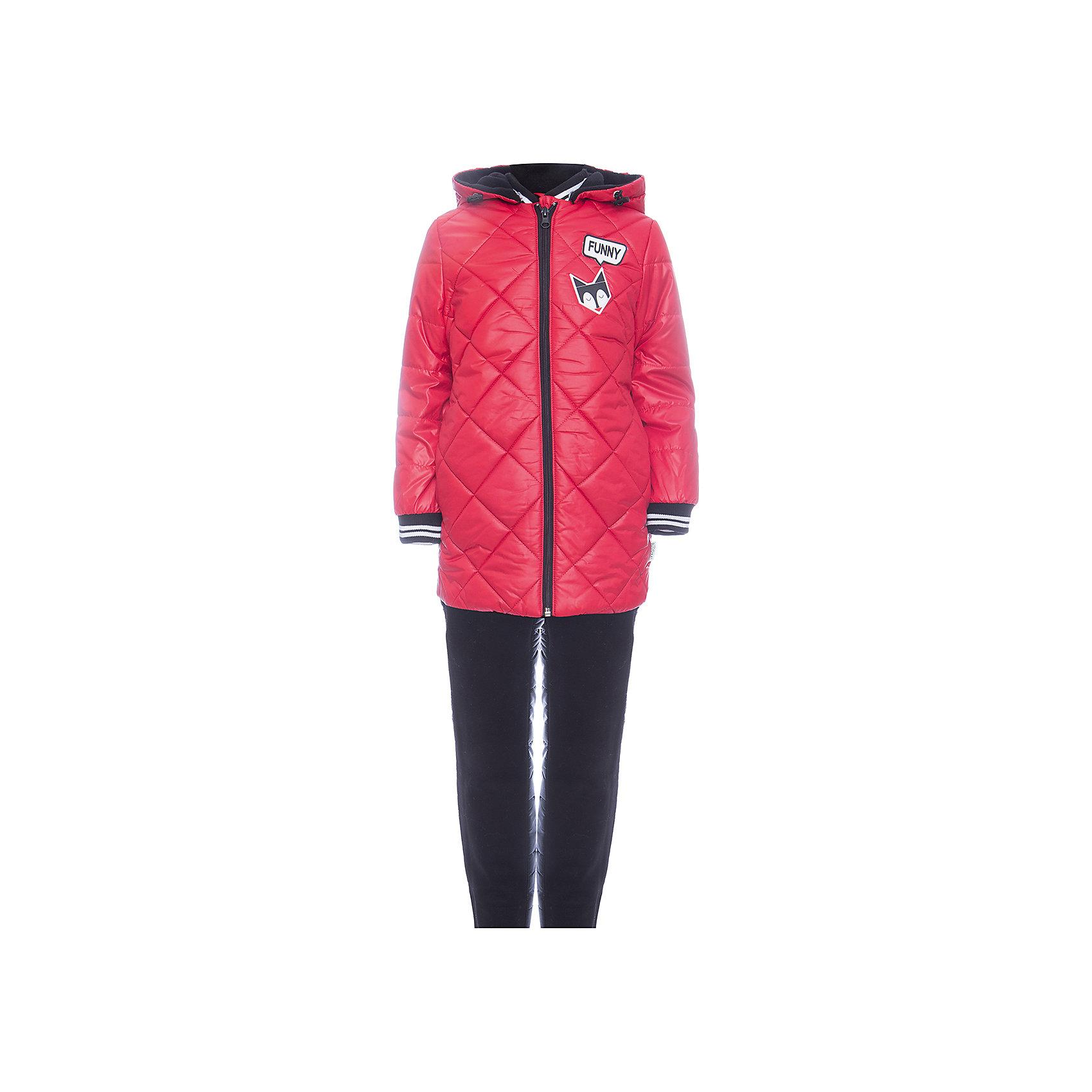 Комплект: куртка и брюки BOOM by Orby для девочкиВерхняя одежда<br>Характеристики товара:<br><br>• цвет: красный<br>• ткань верха: куртка - Таффета oil cire pu milky, брюки - Болонь pu milky<br>• подкладка: куртка - Флис; ПЭ пуходержащий; брюки - ПЭ пуходержащий<br>• утеплитель: куртка - Эко синтепон 200 г/м2; брюки - Эко синтепон 80 г/м2<br>• сезон: демисезон<br>• температурный режим: от -10° до +10°С<br>• особенности куртки: на молнии, стеганая<br>• особенности брюк: на резинке, дутые<br>• капюшон: без меха <br>• страна бренда: Россия<br>• страна изготовитель: Россия<br><br>Отличный вариант модно и удобно одеть ребенка в демисезон - приобрести такой комплект. Этот утепленный комплект для девочки состоит из куртки с капюшоном и удобных брюк. Утеплитель и плотная ткань верха делает его подходящим для сырой и холодной погоды. <br><br>Комплект: куртка и брюки BOOM by Orby для девочки можно купить в нашем интернет-магазине.<br><br>Ширина мм: 356<br>Глубина мм: 10<br>Высота мм: 245<br>Вес г: 519<br>Цвет: красный<br>Возраст от месяцев: 72<br>Возраст до месяцев: 84<br>Пол: Женский<br>Возраст: Детский<br>Размер: 122,104,86,92,98,110,116<br>SKU: 7007624