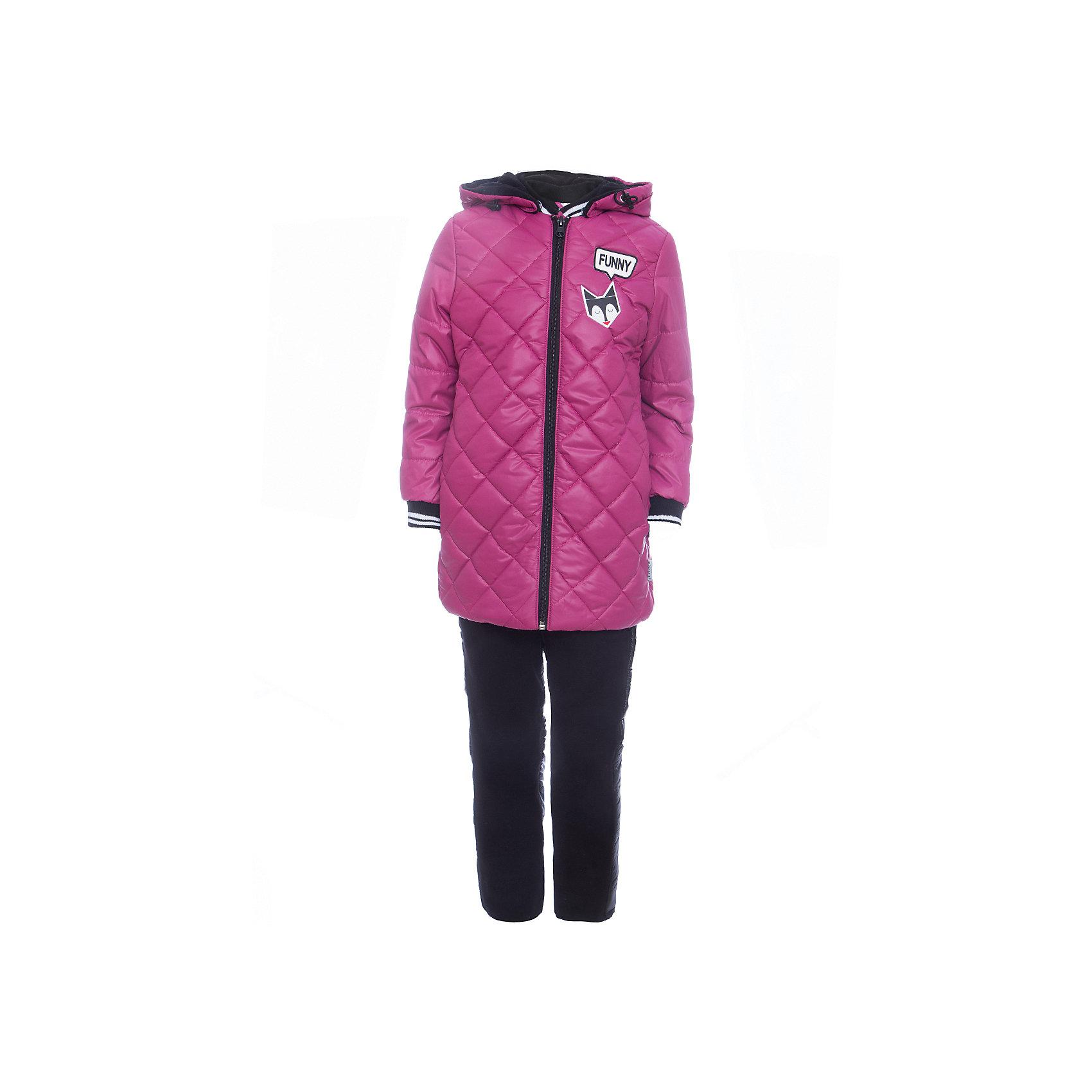 Комплект: куртка и брюки BOOM by Orby для девочкиВерхняя одежда<br>Характеристики товара:<br><br>• цвет: фиолетовый<br>• ткань верха: куртка - Таффета oil cire pu milky, брюки - Болонь pu milky<br>• подкладка: куртка - Флис; ПЭ пуходержащий; брюки - ПЭ пуходержащий<br>• утеплитель: куртка - Эко синтепон 200 г/м2; брюки - Эко синтепон 80 г/м2<br>• сезон: демисезон<br>• температурный режим: от -10° до +10°С<br>• особенности куртки: на молнии, стеганая<br>• особенности брюк: на резинке, дутые<br>• капюшон: без меха <br>• страна бренда: Россия<br>• страна изготовитель: Россия<br><br>Хороший утеплитель и плотная ткань верха делает этот демисезонный комплект отлично подходящим для сырой и холодной погоды. Такой тепленный комплект для девочки состоит из куртки с капюшоном и удобных брюк.<br><br>Комплект: куртка и брюки BOOM by Orby для девочки можно купить в нашем интернет-магазине.<br><br>Ширина мм: 356<br>Глубина мм: 10<br>Высота мм: 245<br>Вес г: 519<br>Цвет: лиловый<br>Возраст от месяцев: 72<br>Возраст до месяцев: 84<br>Пол: Женский<br>Возраст: Детский<br>Размер: 122,104,86,92,98,110,116<br>SKU: 7007632