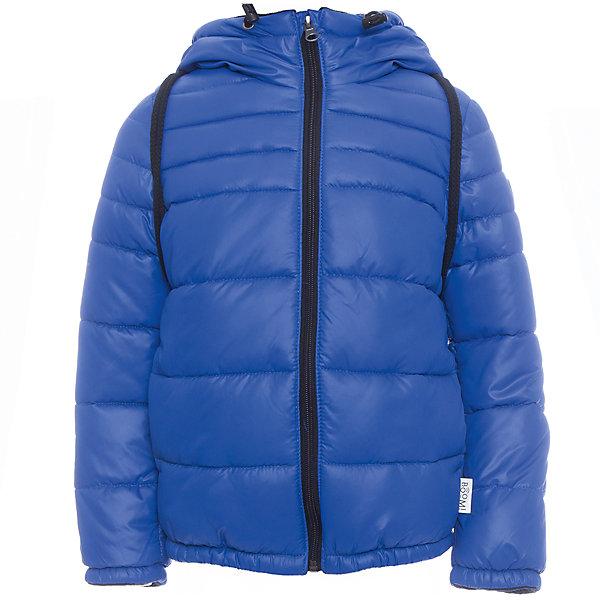 Куртка BOOM by Orby для мальчикаВерхняя одежда<br>Характеристики товара:<br><br>• цвет: синий<br>• ткань верха: Болонь pu milky<br>• подкладка: Флис, ПЭ пуходержащий<br>• утеплитель: Flexy Fiber 200 г/м2<br>• сезон: демисезон<br>• температурный режим: от -10° до +10°С<br>• особенности: на молнии, со съемным рюкзаком<br>• тип куртки: стеганая<br>• капюшон: без меха, несъемный<br>• страна бренда: Россия<br>• страна изготовитель: Россия<br><br>Яркая куртка создана с учетом особенностей строения детского тела. Эта демисезонная куртка учитывает особенности российской погоды в демисезон, поэтому рассчитана как на дождливые дни, так и заморозки. Дополнена удобным рюкзаком.<br><br>Куртку BOOM by Orby можно купить в нашем интернет-магазине.<br>Ширина мм: 356; Глубина мм: 10; Высота мм: 245; Вес г: 519; Цвет: синий; Возраст от месяцев: 48; Возраст до месяцев: 60; Пол: Мужской; Возраст: Детский; Размер: 110,116,92,98,74,80,86,104; SKU: 7007664;