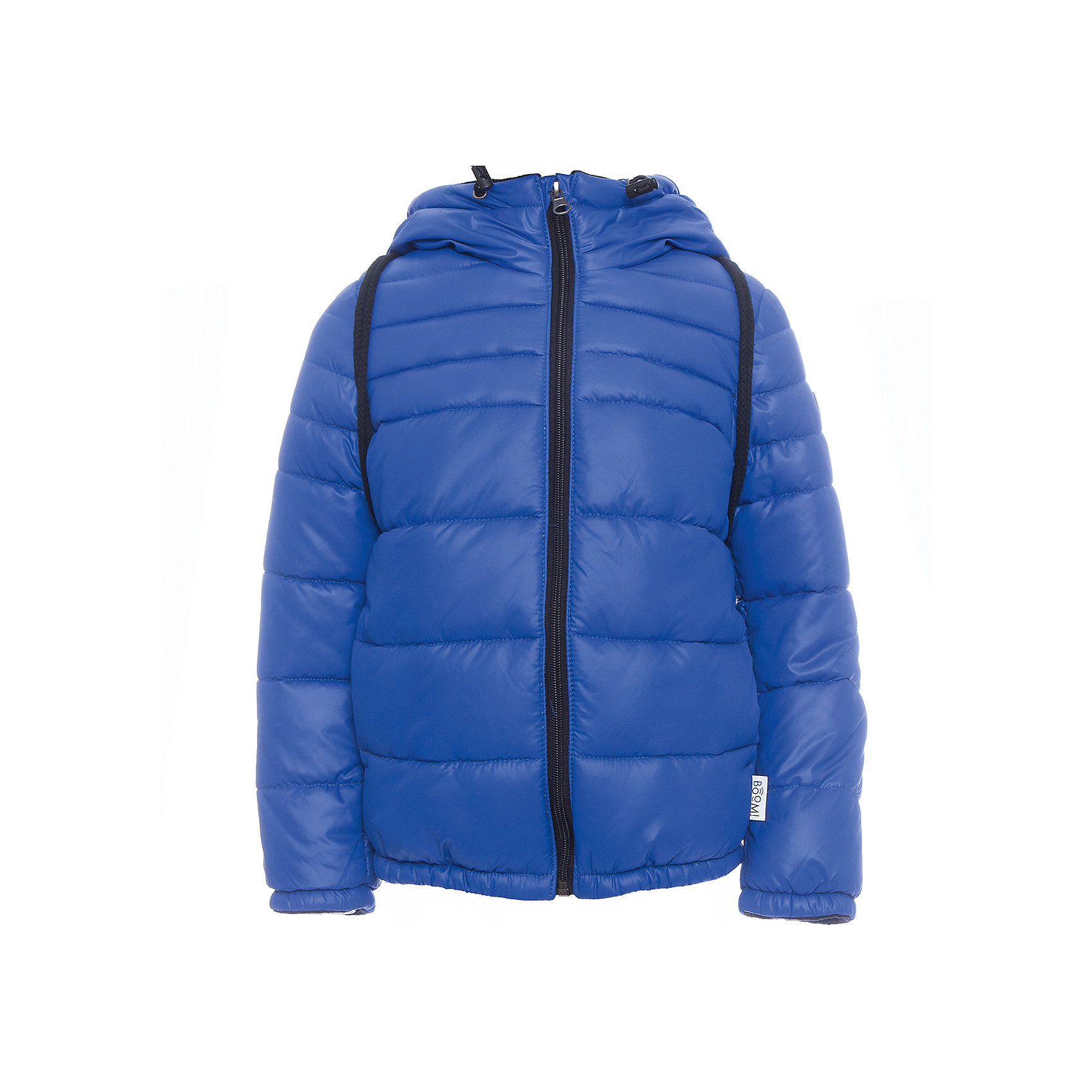Куртка BOOM by OrbyВерхняя одежда<br>Характеристики товара:<br><br>• цвет: синий<br>• ткань верха: Болонь pu milky<br>• подкладка: Флис, ПЭ пуходержащий<br>• утеплитель: Flexy Fiber 200 г/м2<br>• сезон: демисезон<br>• температурный режим: от -10° до +10°С<br>• особенности: на молнии, со съемным рюкзаком<br>• тип куртки: стеганая<br>• капюшон: без меха, несъемный<br>• страна бренда: Россия<br>• страна изготовитель: Россия<br><br>Яркая куртка создана с учетом особенностей строения детского тела. Эта демисезонная куртка учитывает особенности российской погоды в демисезон, поэтому рассчитана как на дождливые дни, так и заморозки. Дополнена удобным рюкзаком.<br><br>Куртку BOOM by Orby можно купить в нашем интернет-магазине.<br><br>Ширина мм: 356<br>Глубина мм: 10<br>Высота мм: 245<br>Вес г: 519<br>Цвет: синий<br>Возраст от месяцев: 18<br>Возраст до месяцев: 24<br>Пол: Унисекс<br>Возраст: Детский<br>Размер: 92,98,74,80,86,104,110,116<br>SKU: 7007664