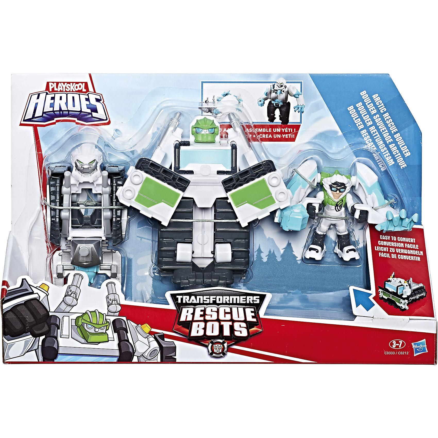 Набор фигурок Hasbro PLAYSKOOL Трансформеры-спасателиЛюбимые герои<br>Набор фигурок спасателей из мультсериала Трансформеры: Роботы-Спасатели. В комлекте робот-трансформер, а так же фигурка человека.<br><br>Ширина мм: 67<br>Глубина мм: 305<br>Высота мм: 203<br>Вес г: 109<br>Возраст от месяцев: 36<br>Возраст до месяцев: 2147483647<br>Пол: Мужской<br>Возраст: Детский<br>SKU: 7009398