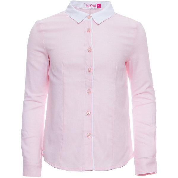 Блуза SELA для девочкиБлузки и рубашки<br>Характеристики товара:<br><br>• цвет: розовый;<br>• состав: 100% хлопок;<br>• сезон: демисезон;<br>• особенности: школьная;<br>• застежка: пуговицы<br>• манжеты на пуговице<br>• свободный крой;<br>• рукав: длинный;<br>• страна бренда: Россия;<br>• страна изготовитель: Китай.<br><br>Школьная блузка с длинным рукавом для девочки. Розовая блузка свободного кроя. Изготовлена из 100% хлопка. Застегивается на пуговицы. Манжеты блузки застегиваются на одну пуговицу.<br><br>Блузку Sela (Села) для девочки можно купить в нашем интернет-магазине.<br><br>Ширина мм: 186<br>Глубина мм: 87<br>Высота мм: 198<br>Вес г: 197<br>Цвет: розовый<br>Возраст от месяцев: 132<br>Возраст до месяцев: 144<br>Пол: Женский<br>Возраст: Детский<br>Размер: 152,122,164,146,140,134,128<br>SKU: 7009455