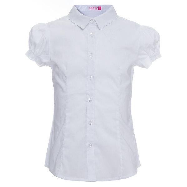 Блуза SELA для девочкиБлузки и рубашки<br>Характеристики товара:<br><br>• цвет: белый;<br>• состав: 56% хлопок, 41% нейлон, 3% эластан;<br>• сезон: демисезон;<br>• застежка: пуговицы;<br>• особенности: школьная;<br>• силуэт: А-силуэт;<br>• рукав: короткий;<br>• страна бренда: Россия;<br>• страна изготовитель: Китай.<br><br>Школьная блуза с коротким рукавом для девочки. Белая блузка застегивается на пуговицы. Манжеты рукавов на резинке.<br><br>Блузу Sela (Села) для девочки можно купить в нашем интернет-магазине.<br><br>Ширина мм: 186<br>Глубина мм: 87<br>Высота мм: 198<br>Вес г: 197<br>Цвет: белый<br>Возраст от месяцев: 120<br>Возраст до месяцев: 132<br>Пол: Женский<br>Возраст: Детский<br>Размер: 146,122,152,140,134,128<br>SKU: 7009470