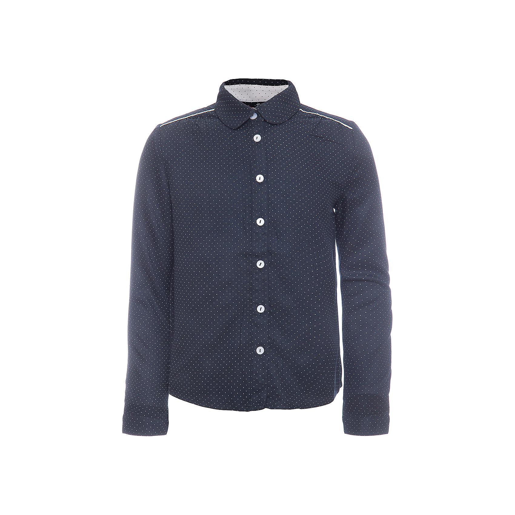 Блузка SELA для девочкиБлузки и рубашки<br>Характеристики товара:<br><br>• цвет: темно-синий;<br>• состав: 100% вискоза;<br>• сезон: демисезон;<br>• особенности: школьная, в горошек, повседневная;<br>• свободный крой;<br>• застежка: пуговицы;<br>• манжеты на пуговице;<br>• рукав: длинный;<br>• страна бренда: Россия;<br>• страна изготовитель: Китай.<br><br>Блузка с длинным рукавом для девочки. Школьная блузка астегивается на пуговицы, манжеты на одной пуговице. Синяя блузка в мелкий горошек.<br><br>Блузку Sela (Села) для девочки можно купить в нашем интернет-магазине.<br><br>Ширина мм: 186<br>Глубина мм: 87<br>Высота мм: 198<br>Вес г: 197<br>Цвет: темно-синий<br>Возраст от месяцев: 84<br>Возраст до месяцев: 96<br>Пол: Женский<br>Возраст: Детский<br>Размер: 134,164,122,140,146,152,128<br>SKU: 7009477